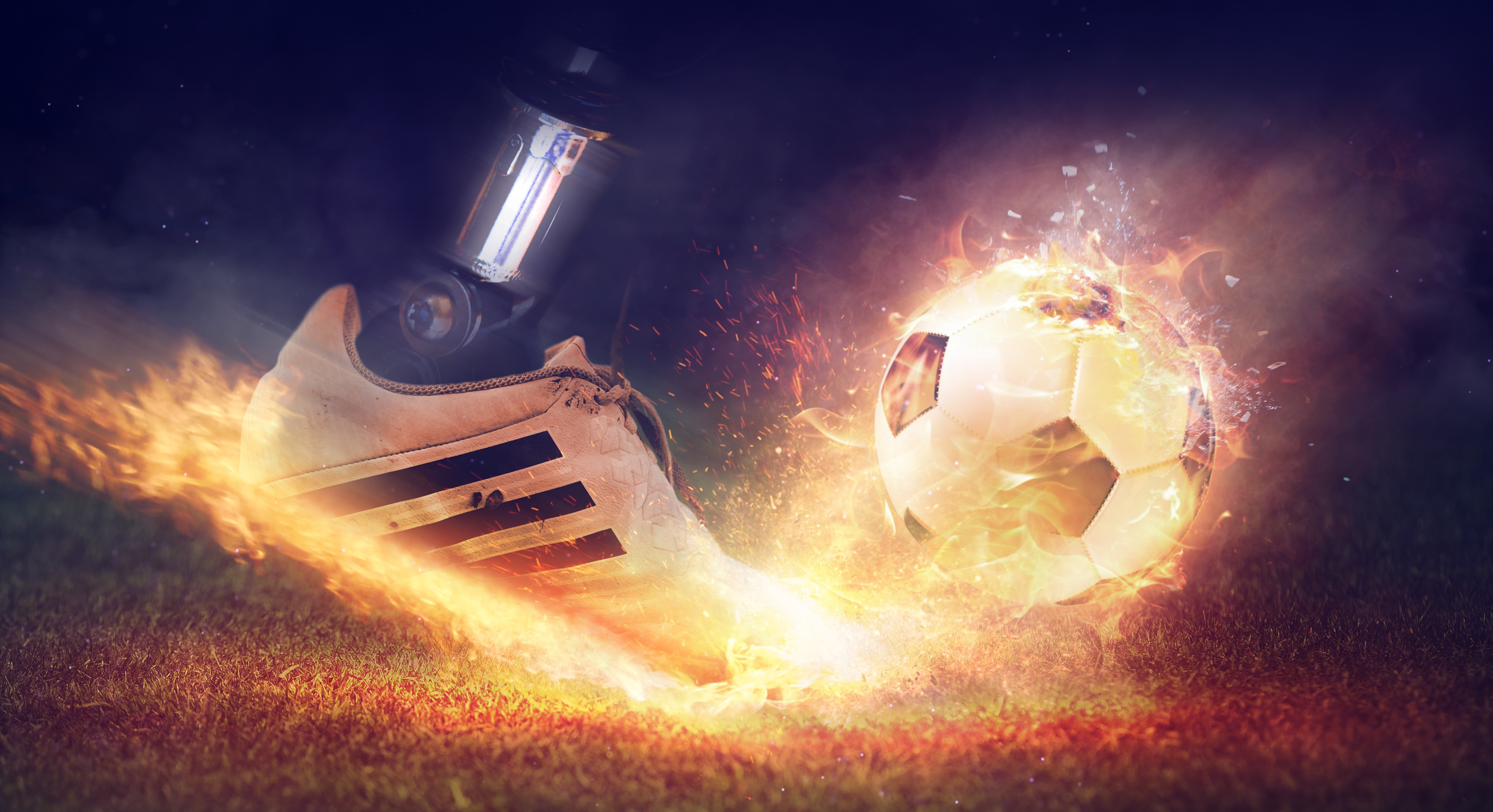 The Gallery For Flaming Football Background Images: Football Shoe Fire Smoke 5k, HD Sports, 4k Wallpapers
