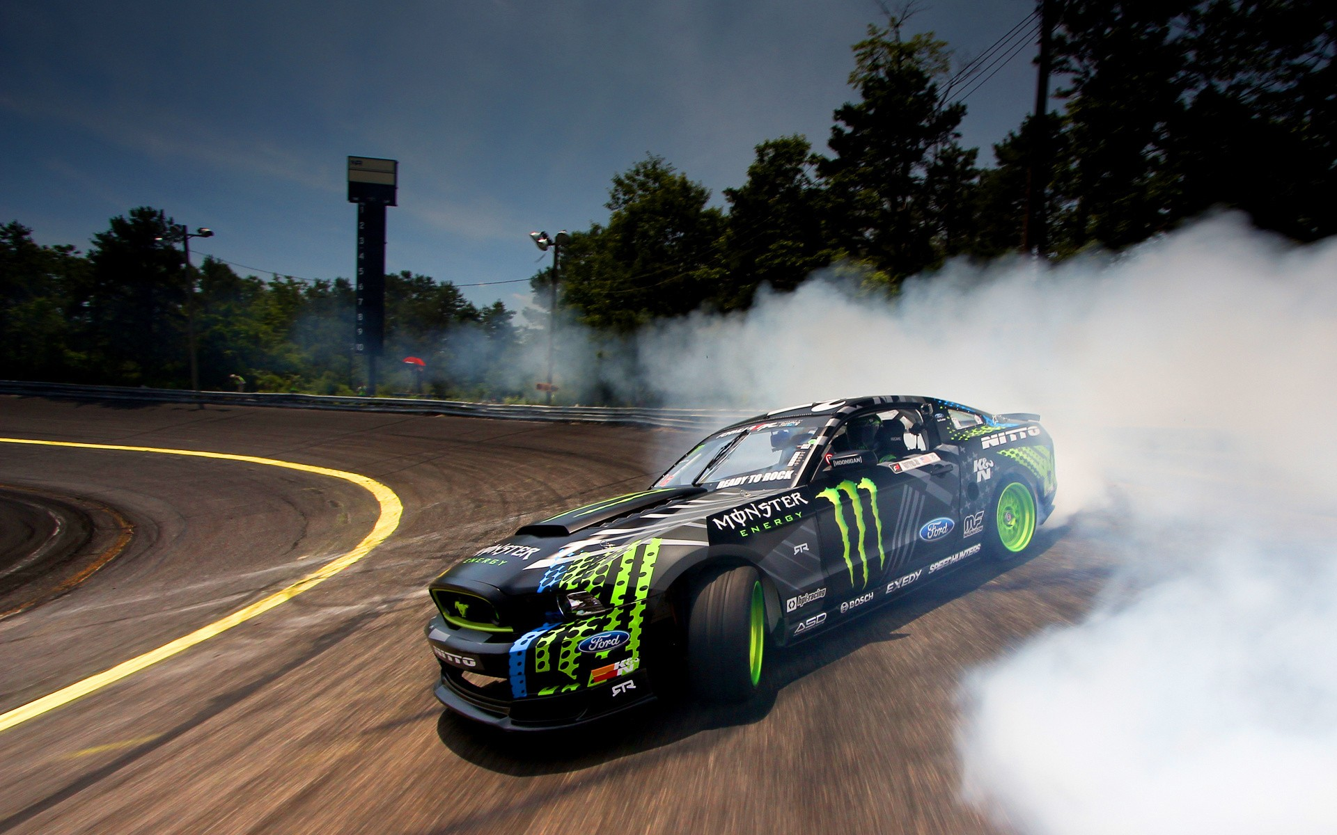 Download Ford Monster Drifting Smoke Hd Wallpapers In