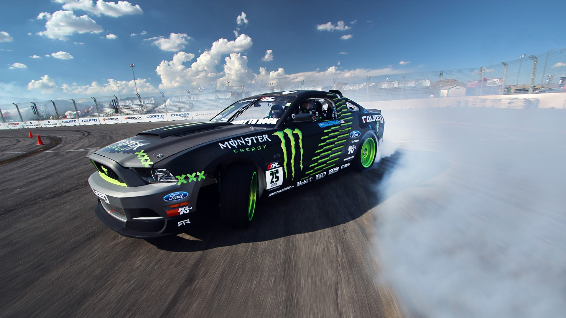 ford mustang monster car drift, hd cars, 4k wallpapers, images