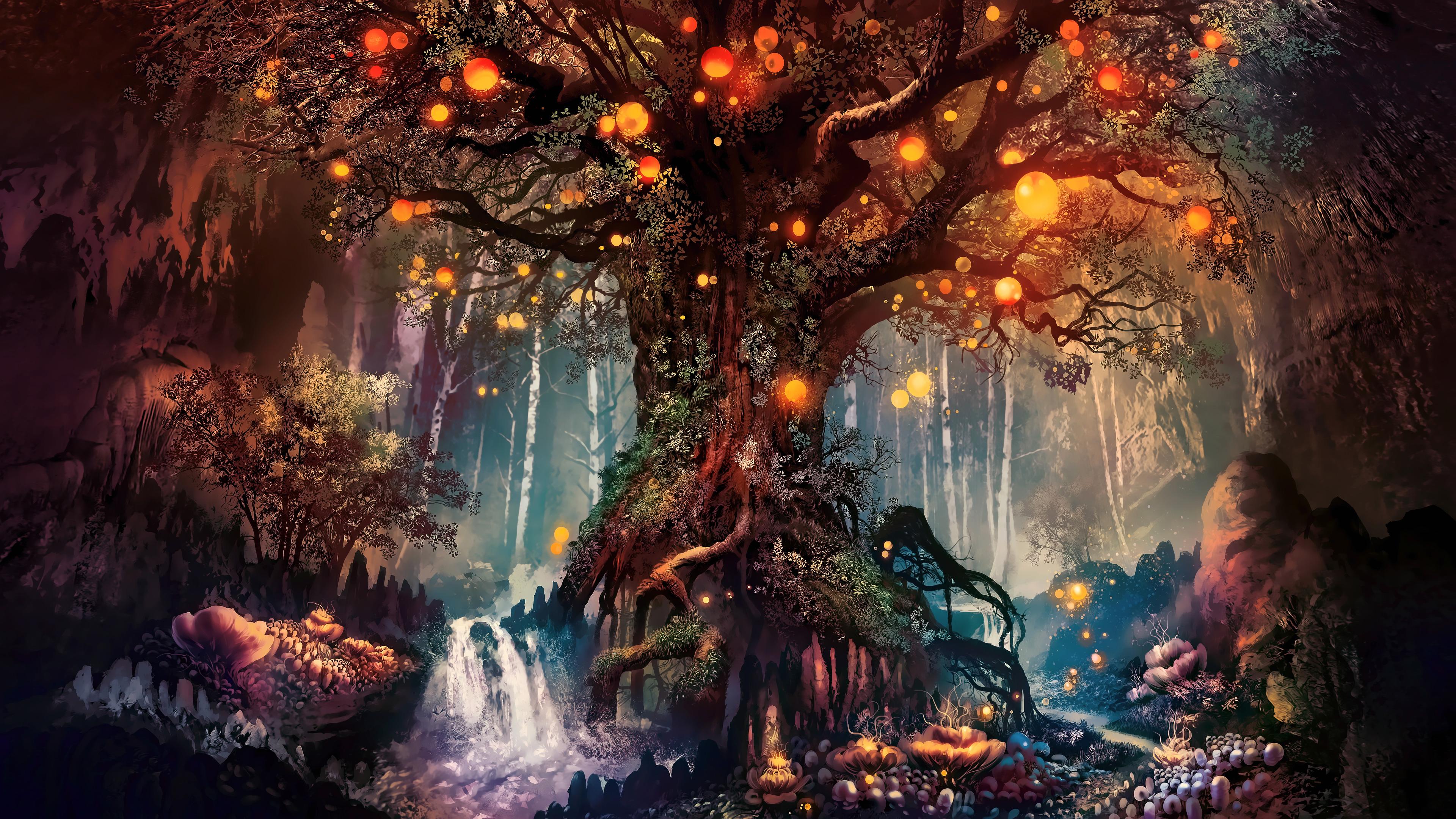 Forest Fantasy Artwork 4k Hd Artist 4k Wallpapers Images