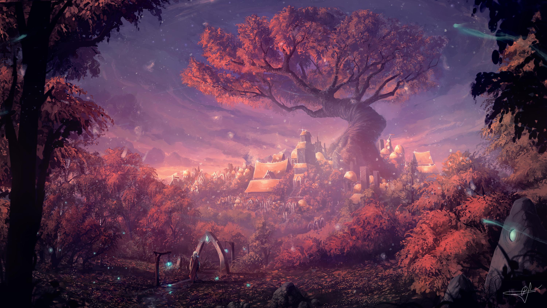 Forest Lights Color Fantasy, HD Artist, 4k Wallpapers ...