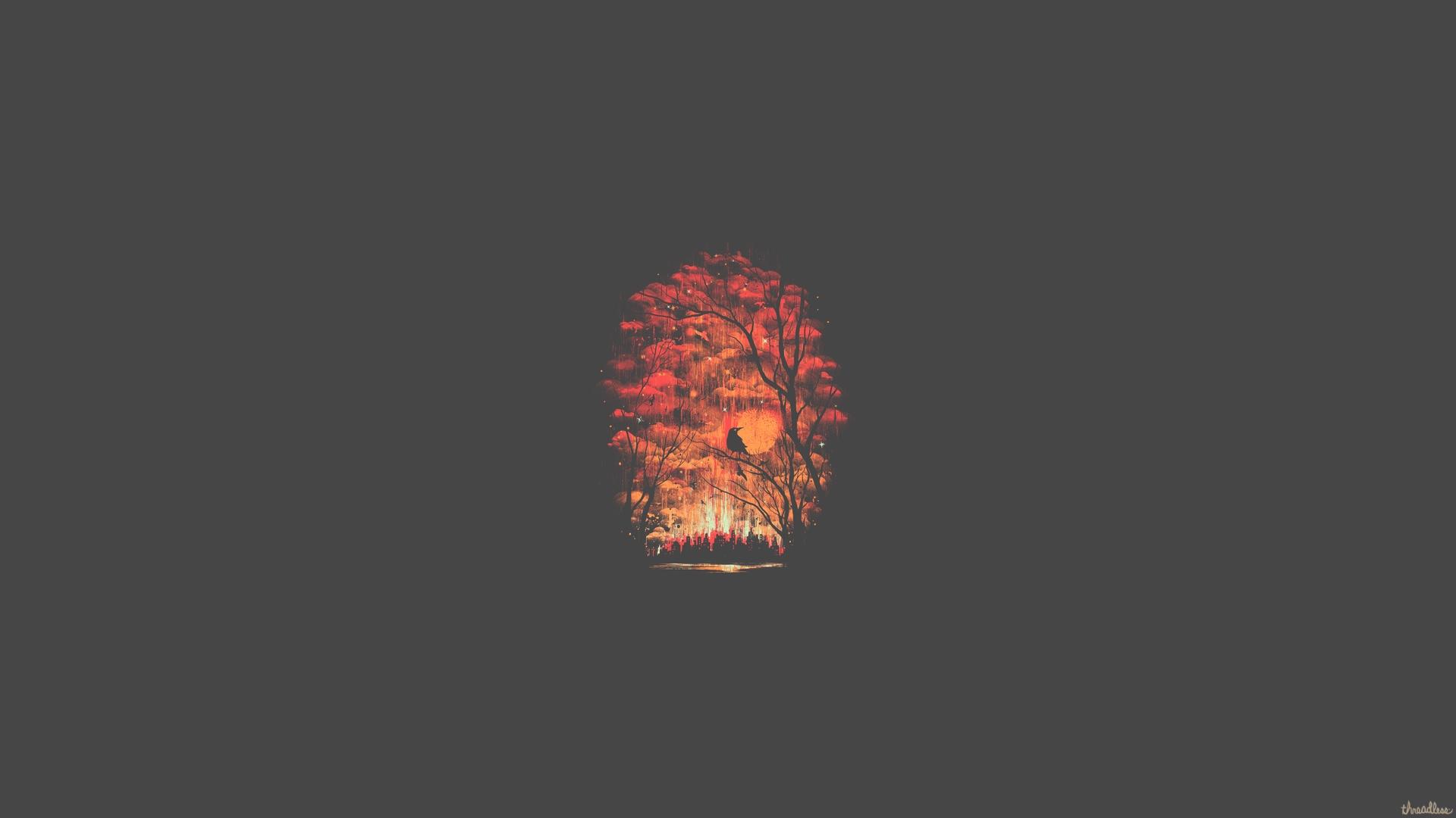 Hd wallpaper minimalist - Forest Minimalist