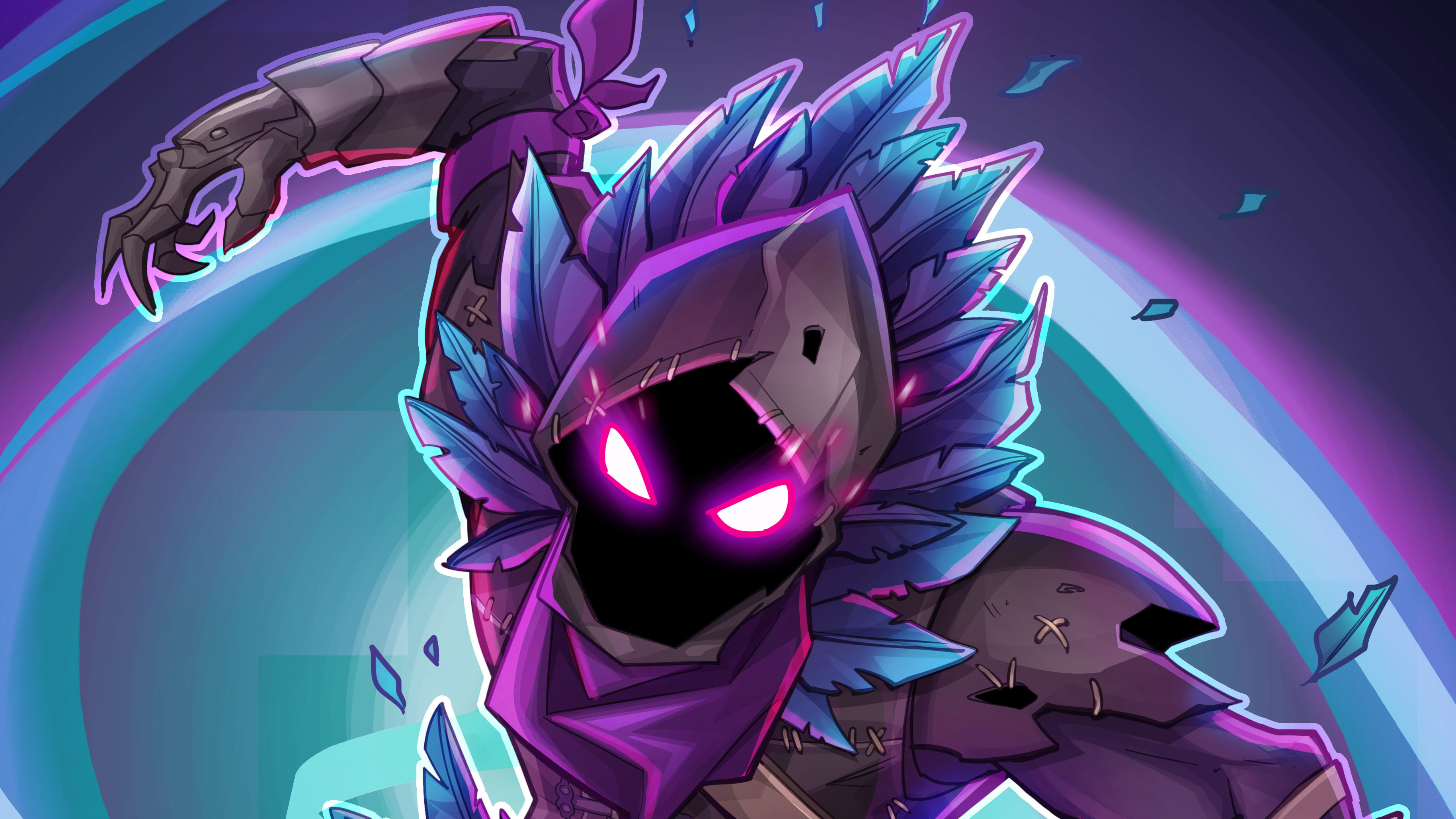 Fortnite Raven Fan Art Hd Games 4k Wallpapers Images Backgrounds