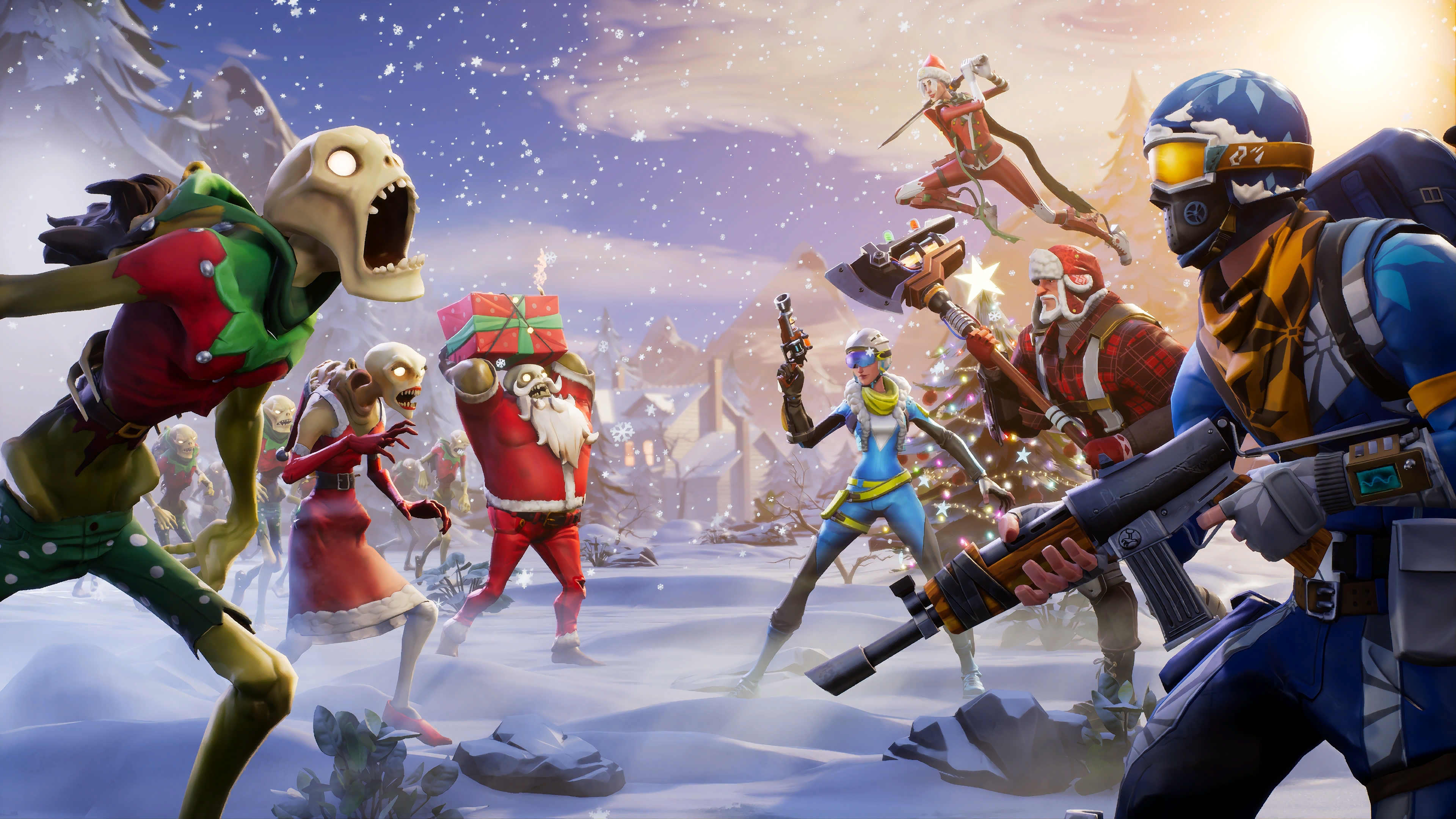 fortnite wallpaper 1440x900: Fortnite Winter Season, HD Games, 4k Wallpapers, Images