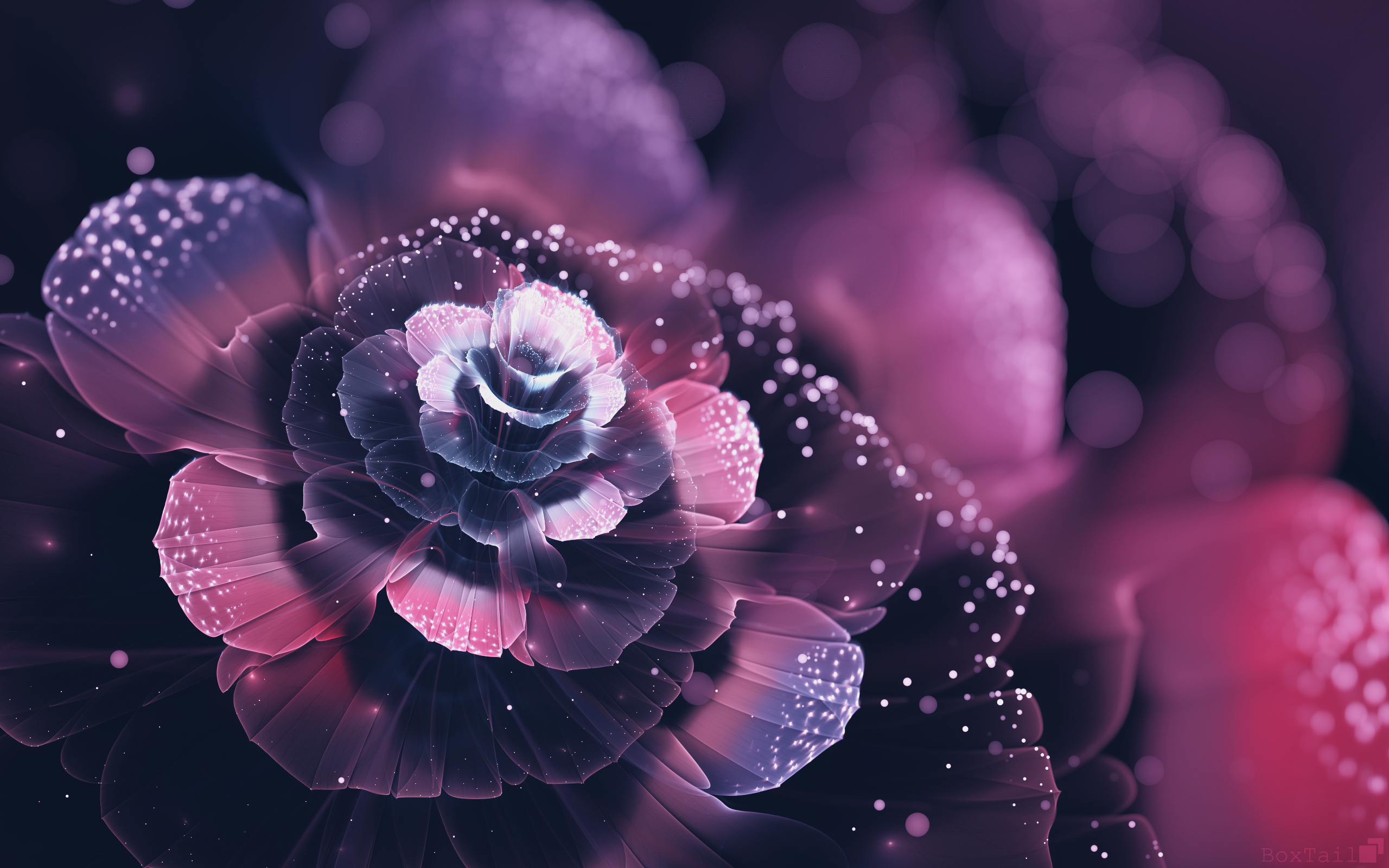Fractal Flowers Abstract