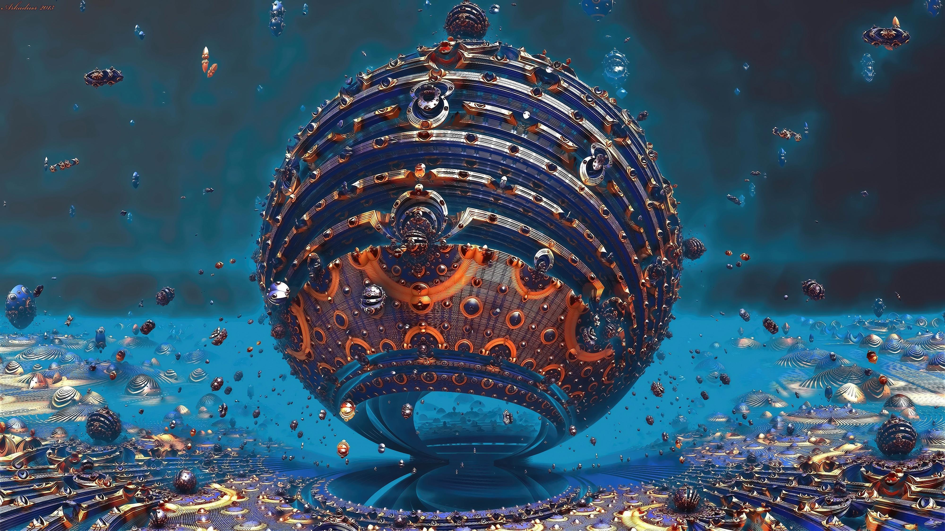 Fractal Sphere 3D 4K, HD Artist, 4k Wallpapers, Images ...