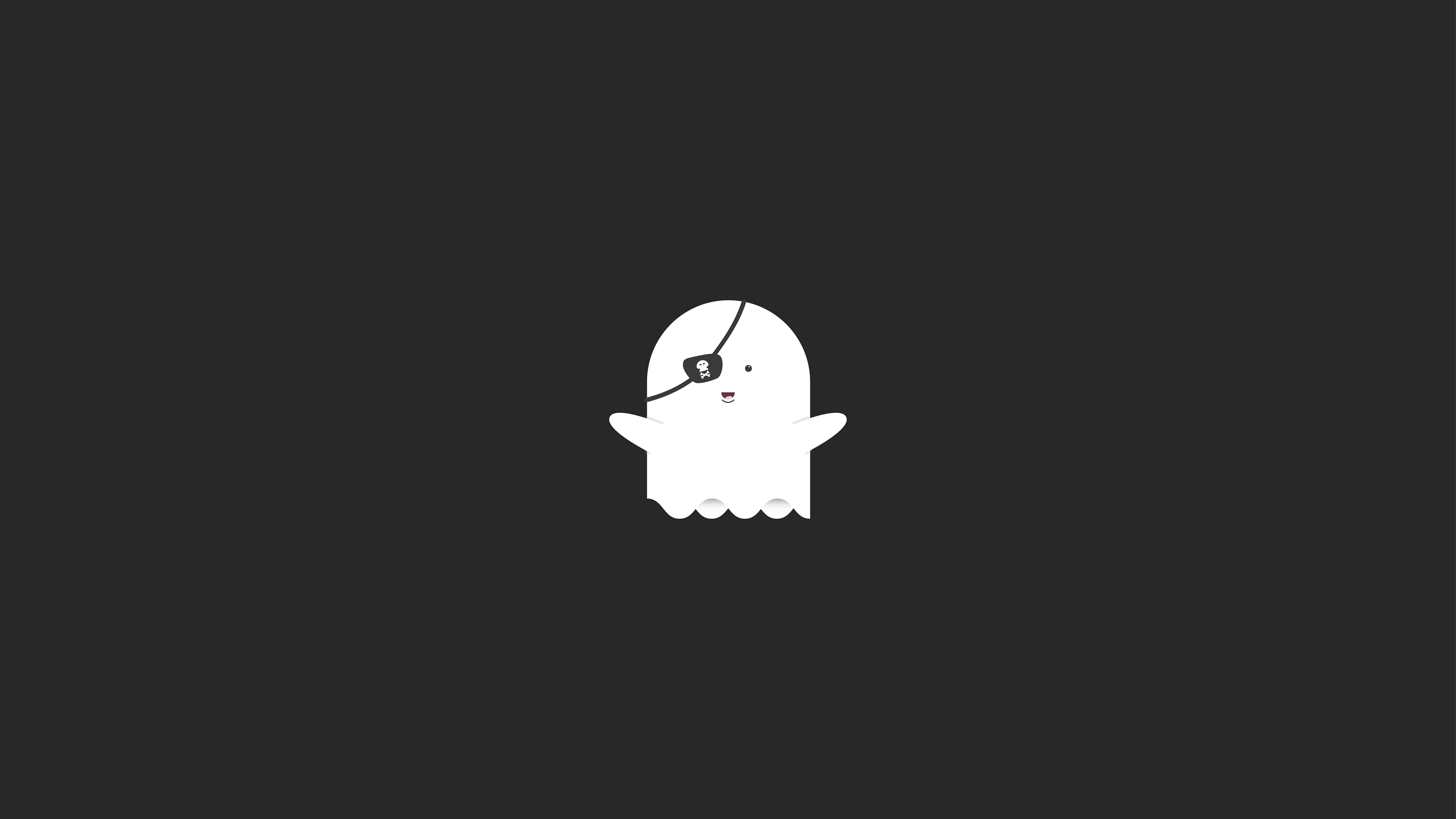 Funny Pirate Ghost Minimalist, HD Artist, 4k Wallpapers ...