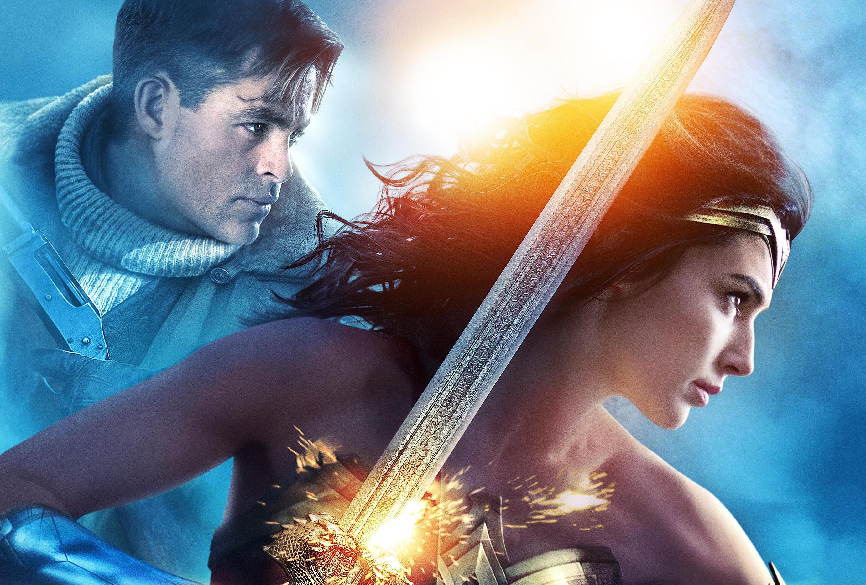 Gal Gadot Wonder Woman Wallpaper: Gal Gadot And Chris Pine In Wonder Woman, HD Movies, 4k