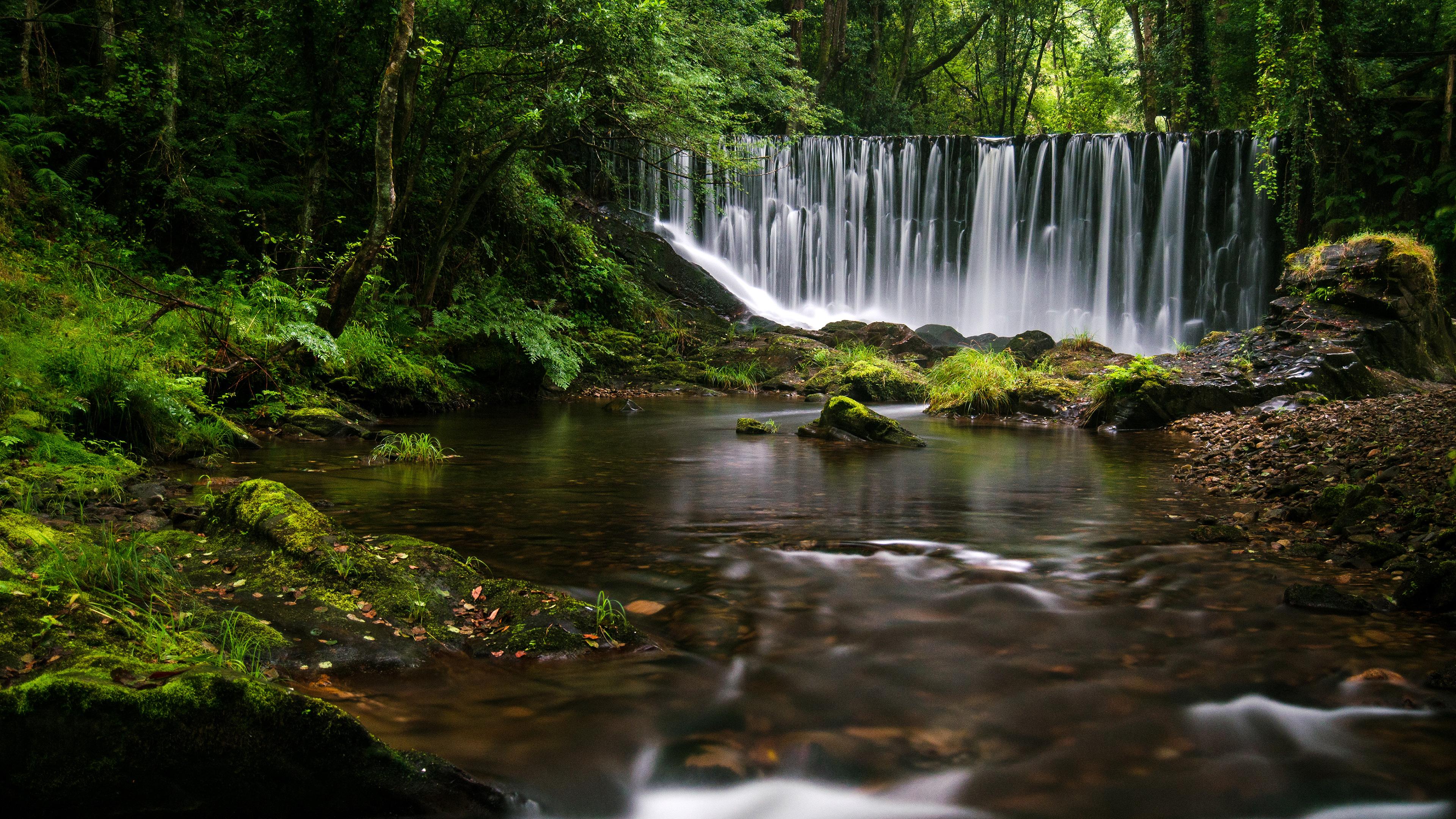 Galician waterfall 4k hd nature 4k wallpapers images - Wallpaper hd 4k ...