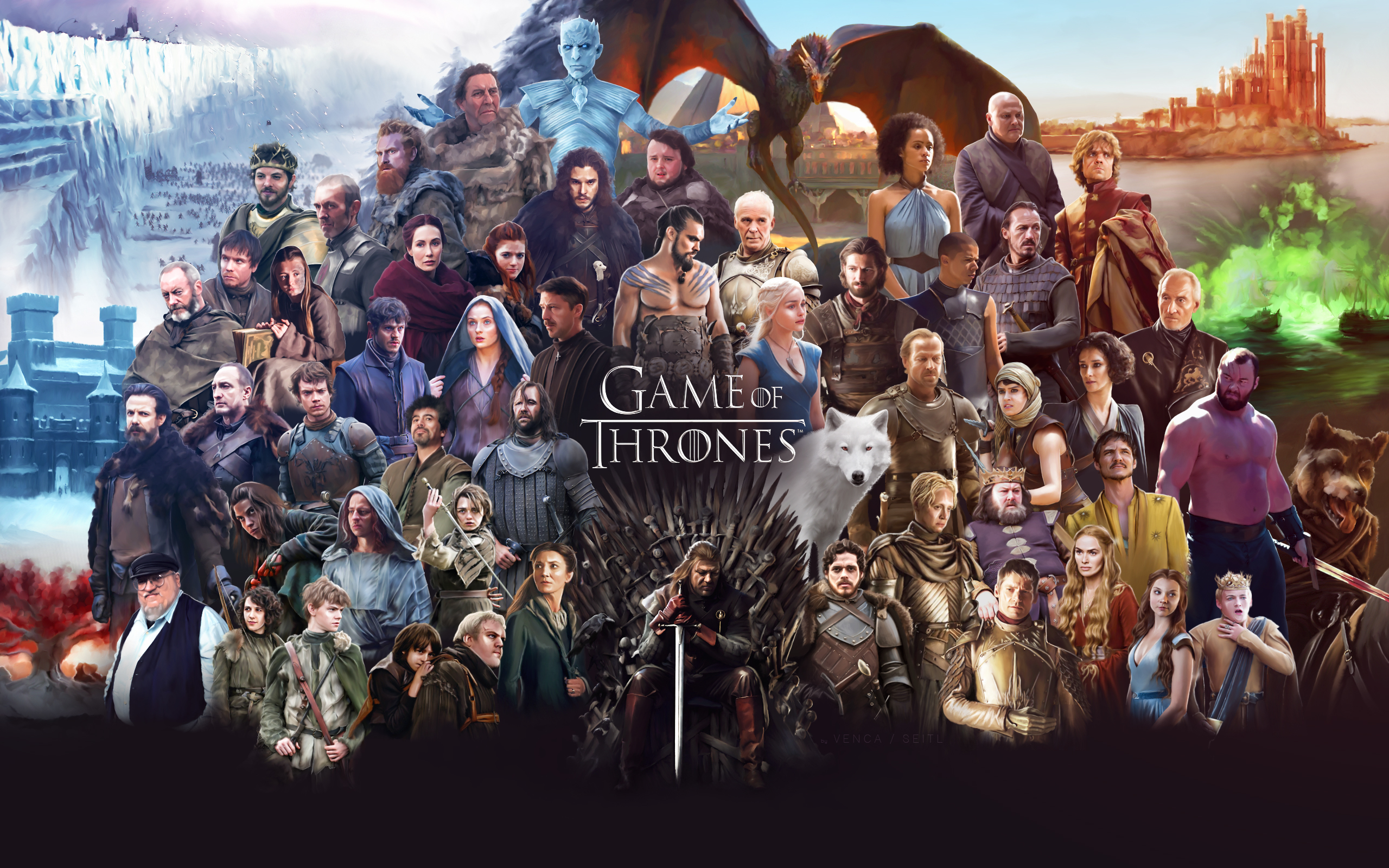 Game Of Thrones All Cast 2048x1152 Resolution