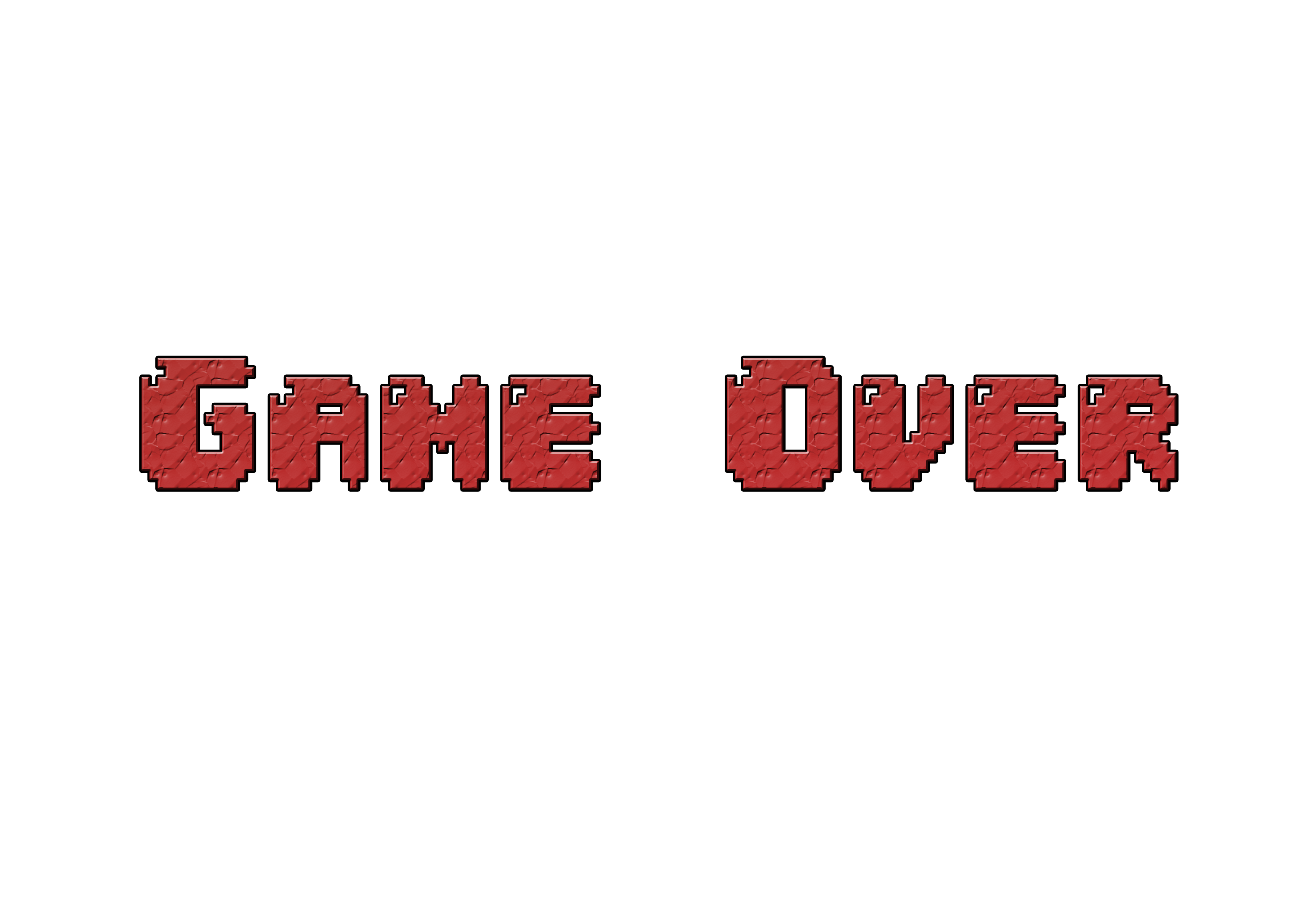 Game Over Typography