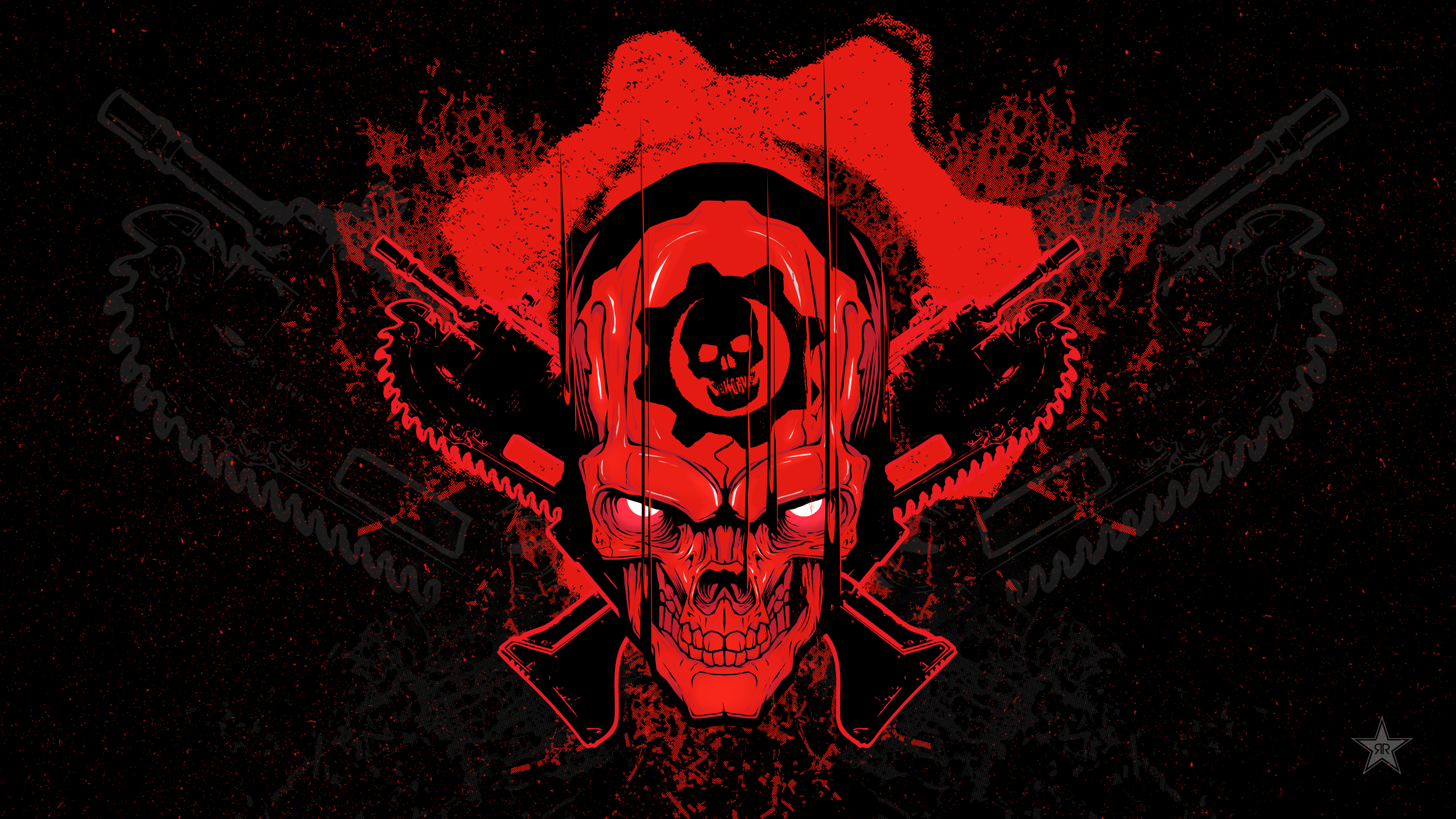 gears of war 4 skull, hd games, 4k wallpapers, images, backgrounds