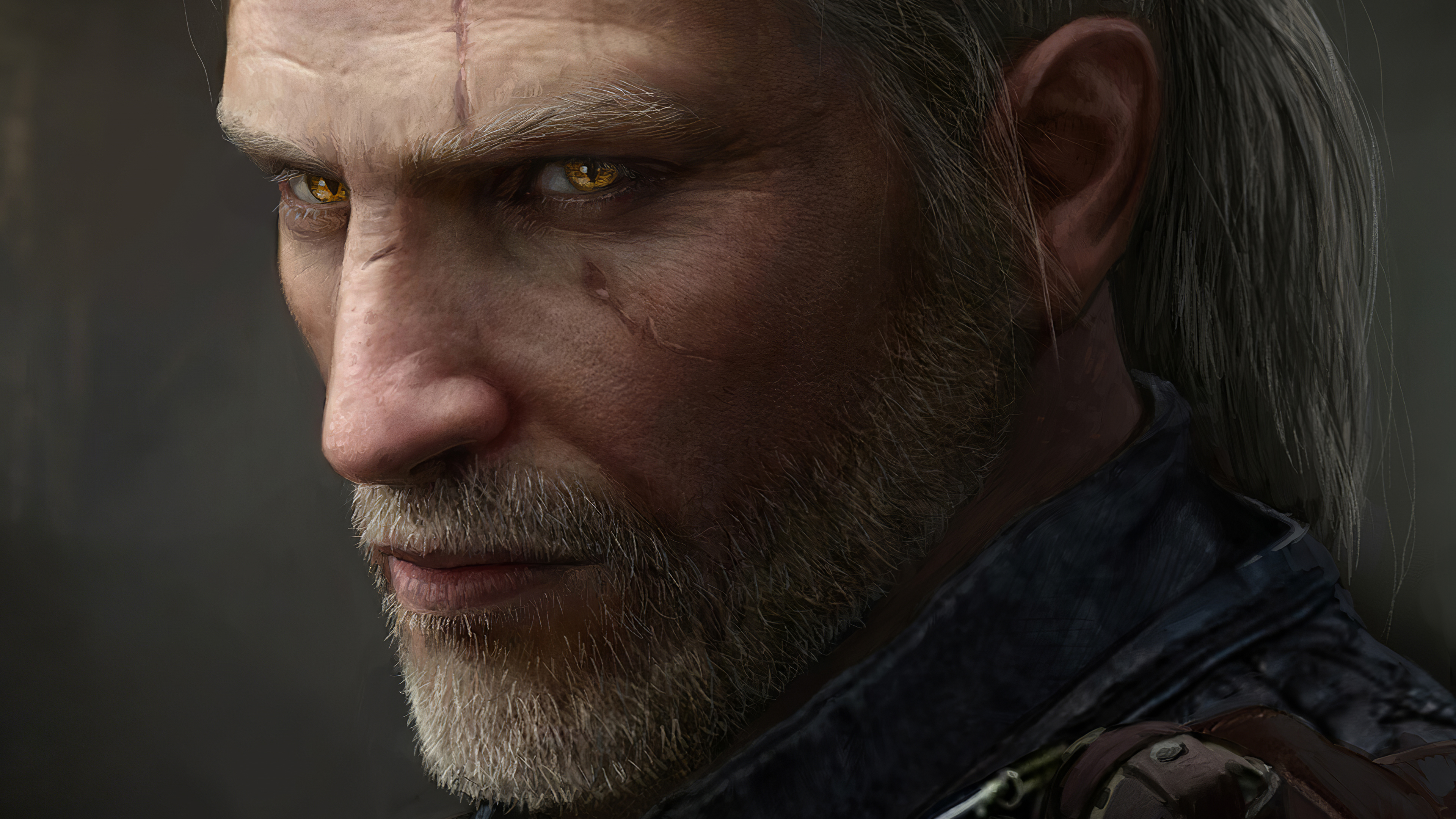 Geralt Of Rivia Witcher 3 Glowing Eyes 4k Hd Games 4k