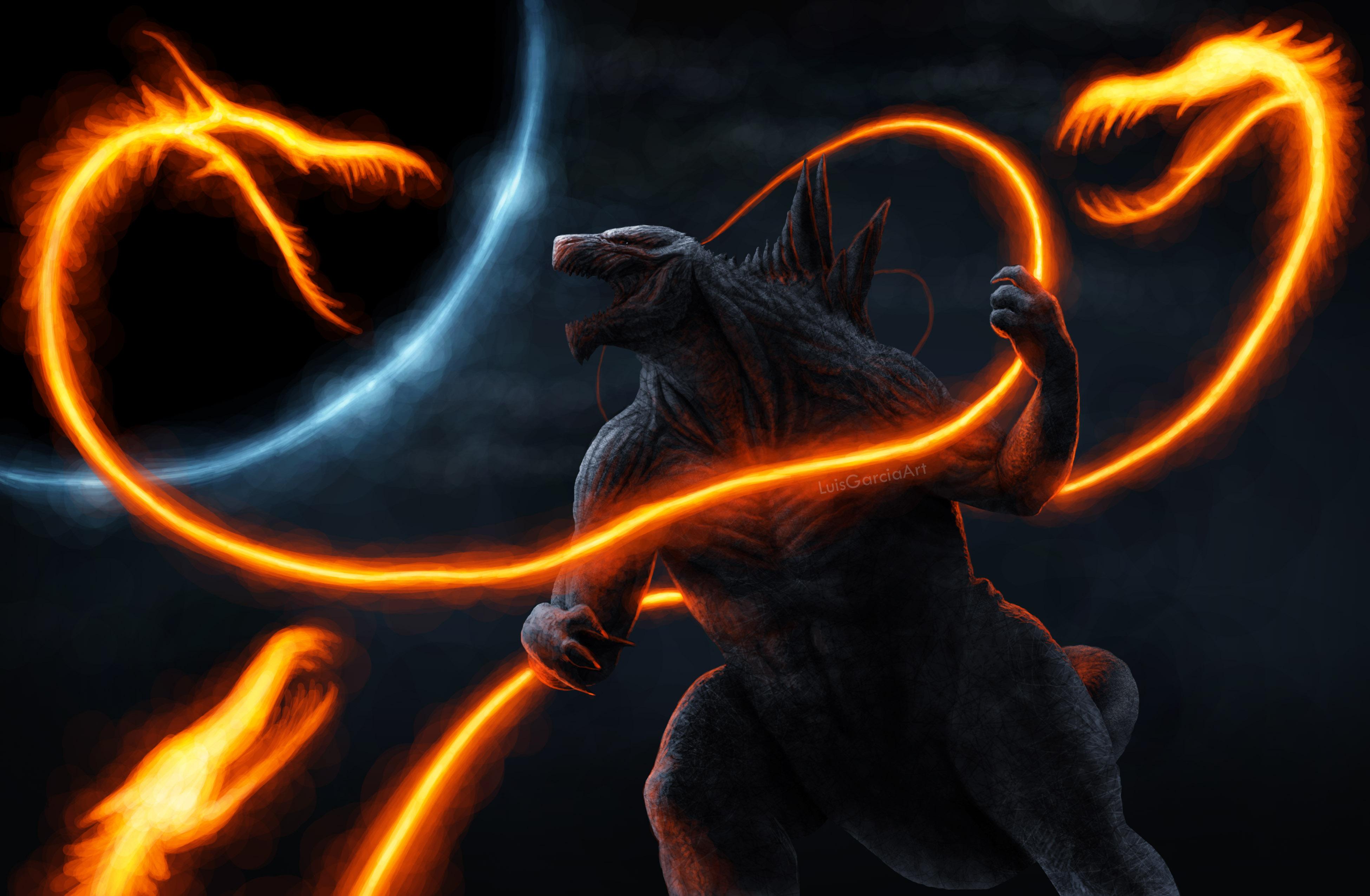 Ghidorah Noodles Vs Anime Godzilla, HD Artist, 4k ...