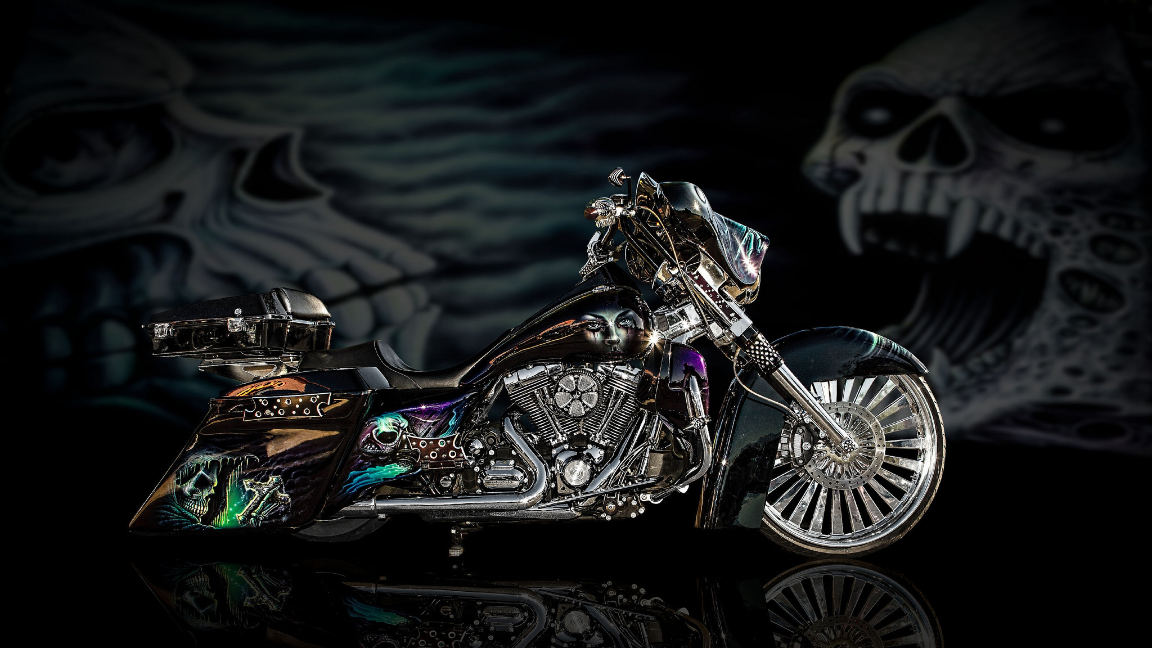 Ghost Design Chopper HD Bikes 4k Wallpapers Images Backgrounds