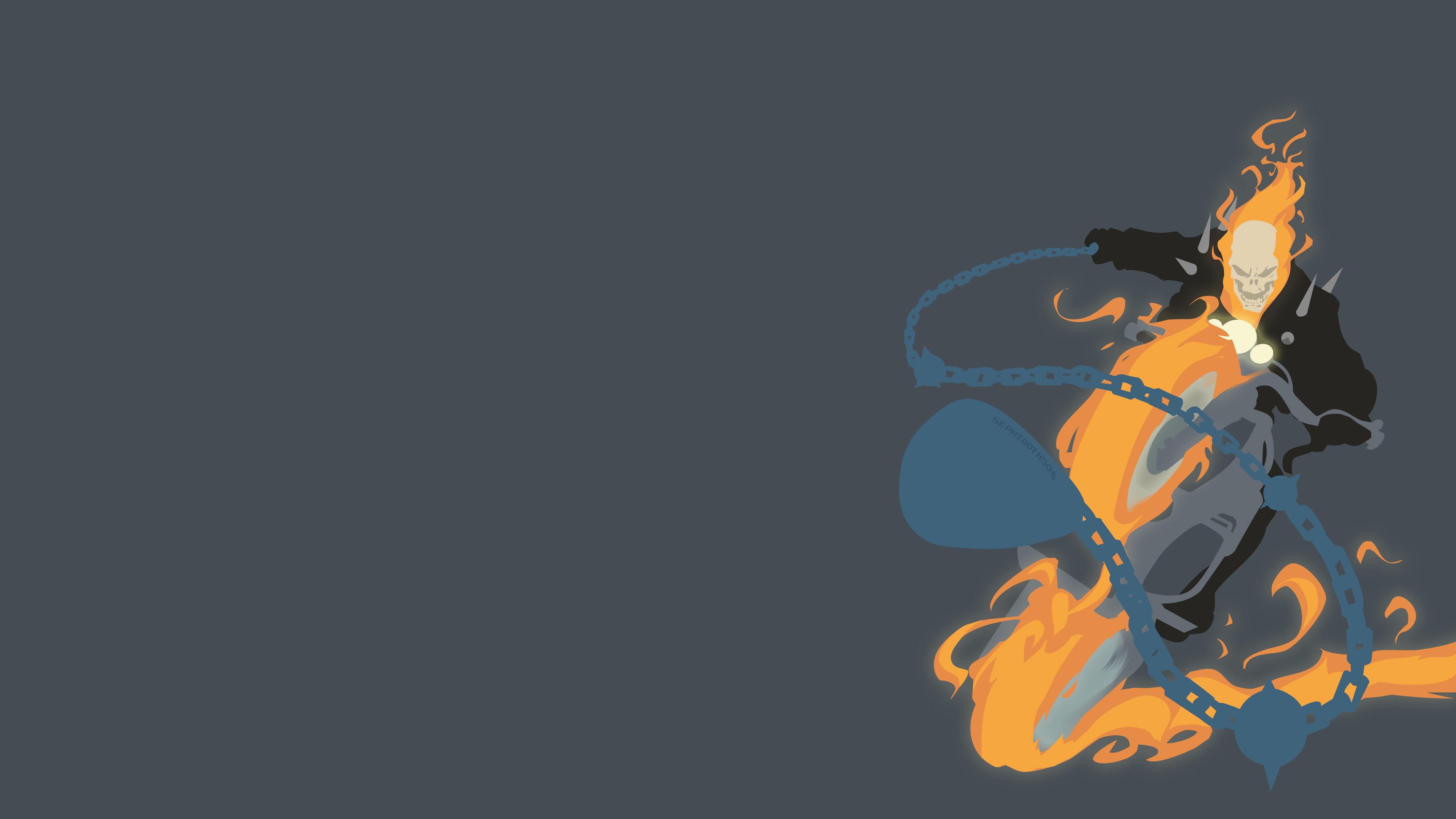 ghost rider minimalism 4k, hd superheroes, 4k wallpapers, images