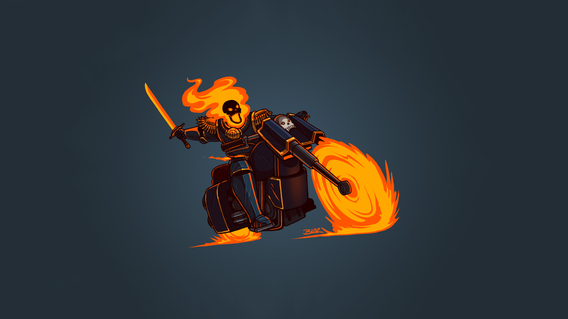 1920x1080 ghost rider minimalism hd laptop full hd 1080p hd 4k