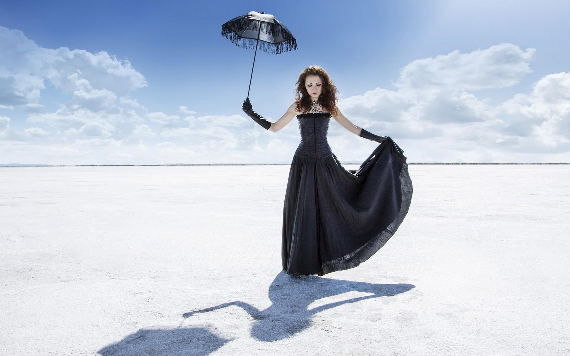 Girl Black Dress Umbrella, Hd Photography, 4K Wallpapers, Images, Backgrounds, Photos -1864