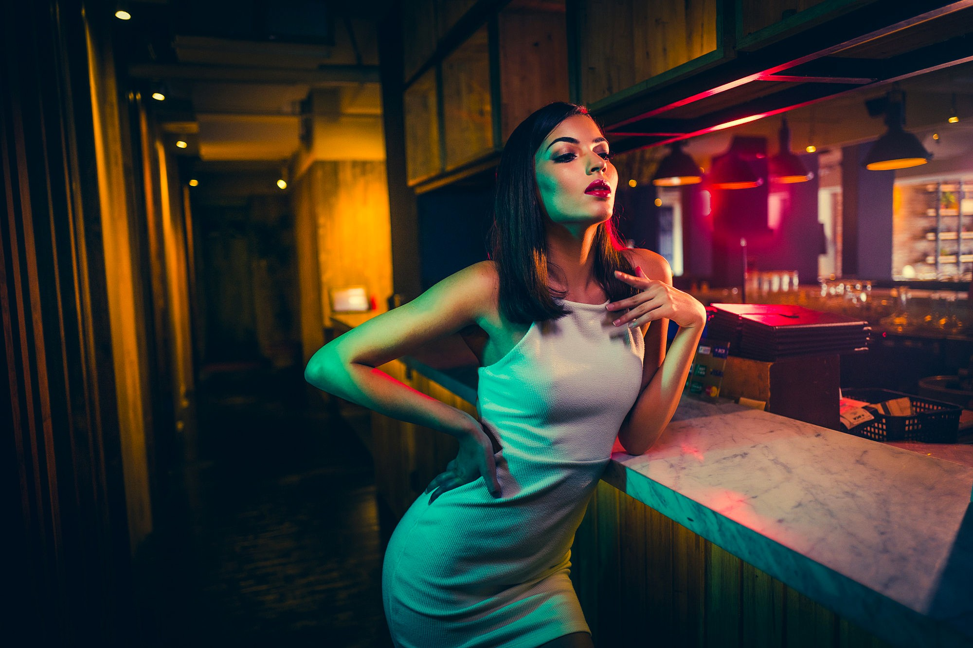 Girl In Bar, HD Girls, 4k Wallpapers, Images, Backgrounds ...