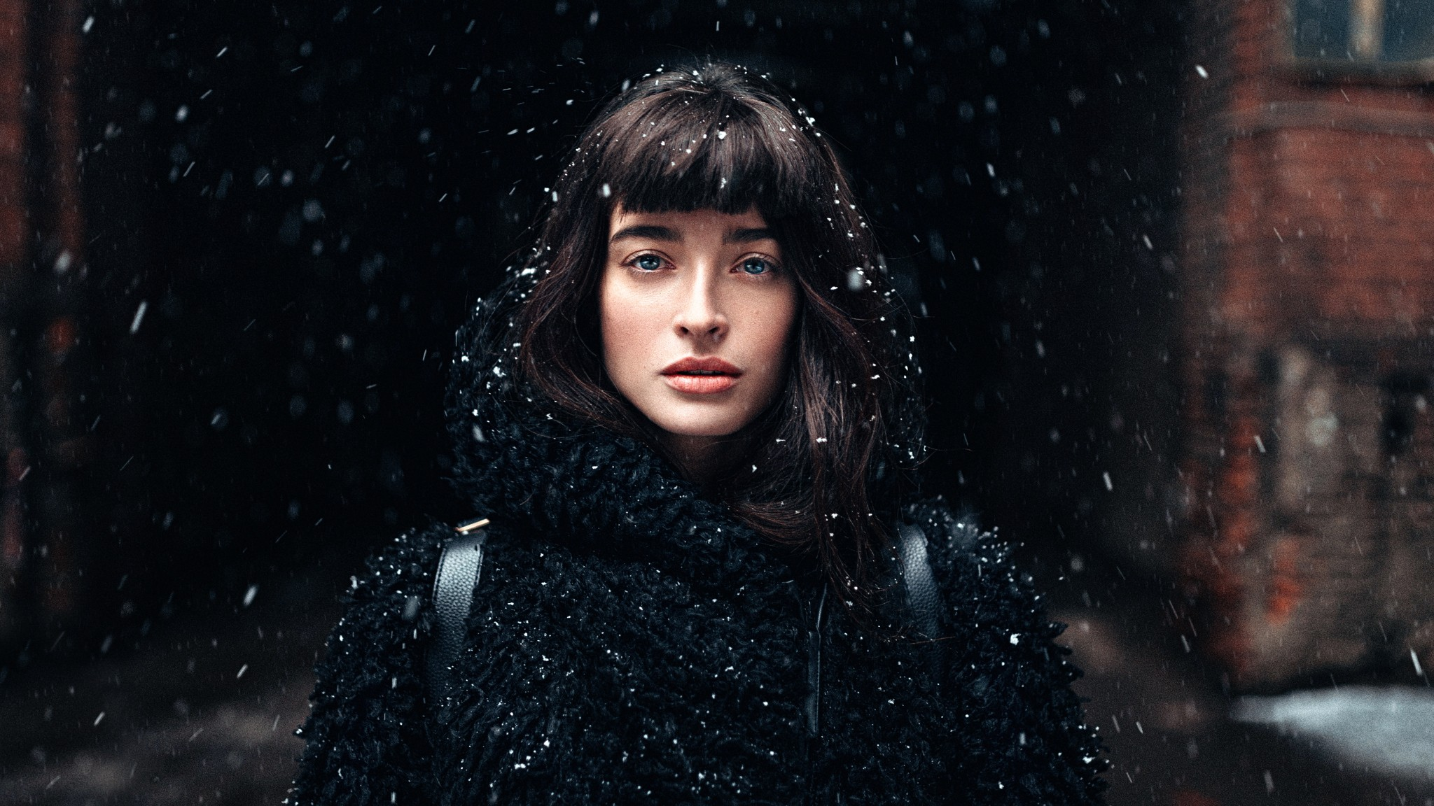 Girl Standing In Snow, HD Girls, 4k Wallpapers, Images