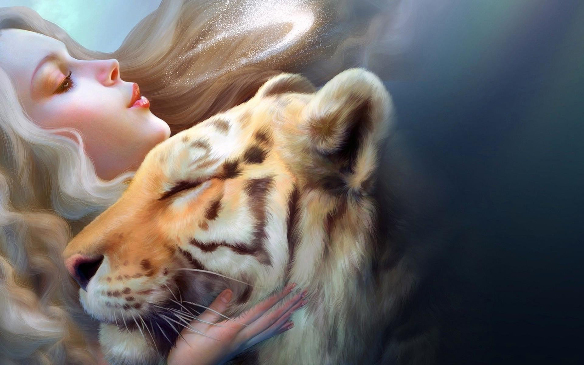 1360x768 girl tiger art laptop hd hd 4k wallpapers images girl tiger art laptop hd altavistaventures Image collections