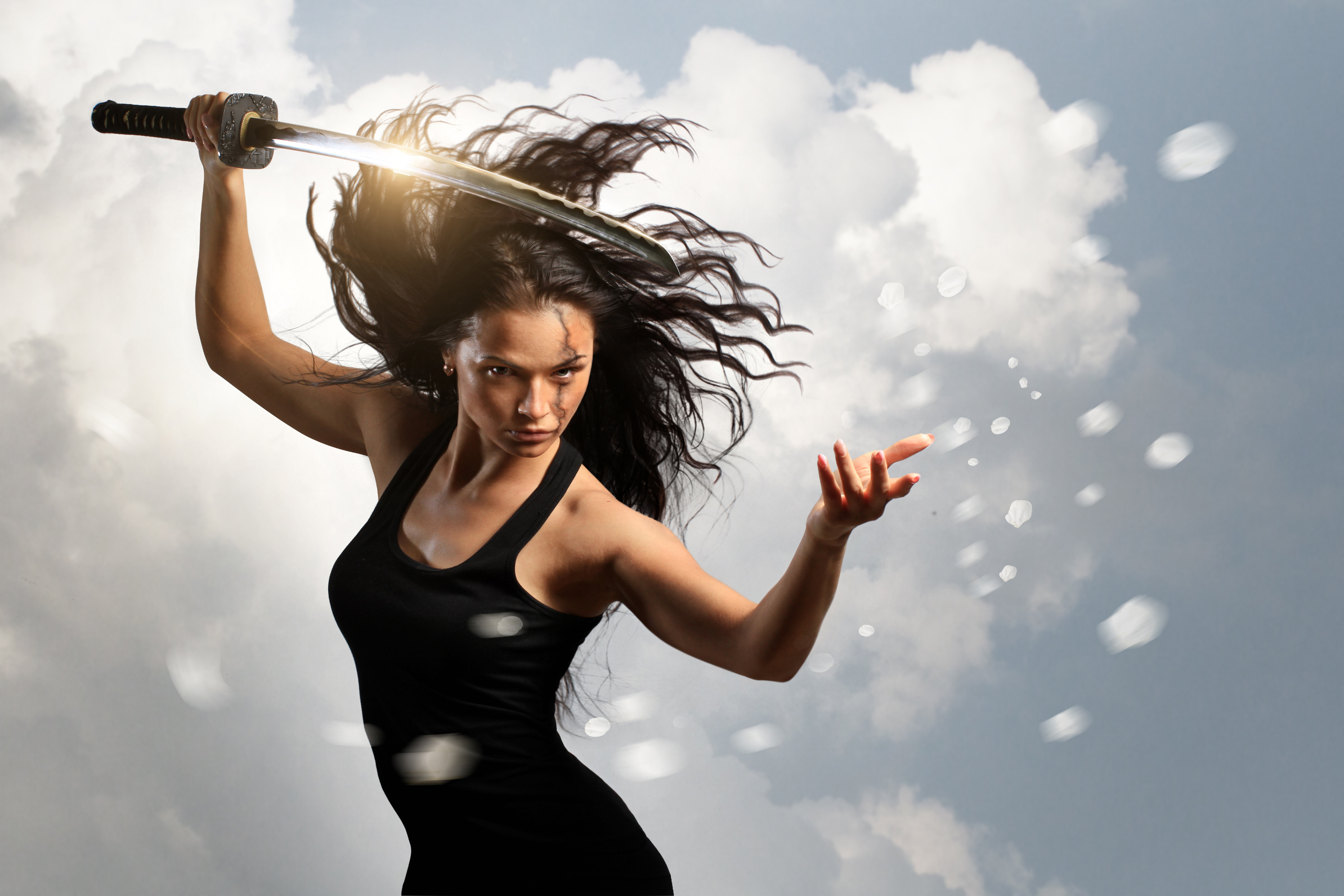 Girl with sword 4k hd girls 4k wallpapers images - Girl with sword wallpaper ...
