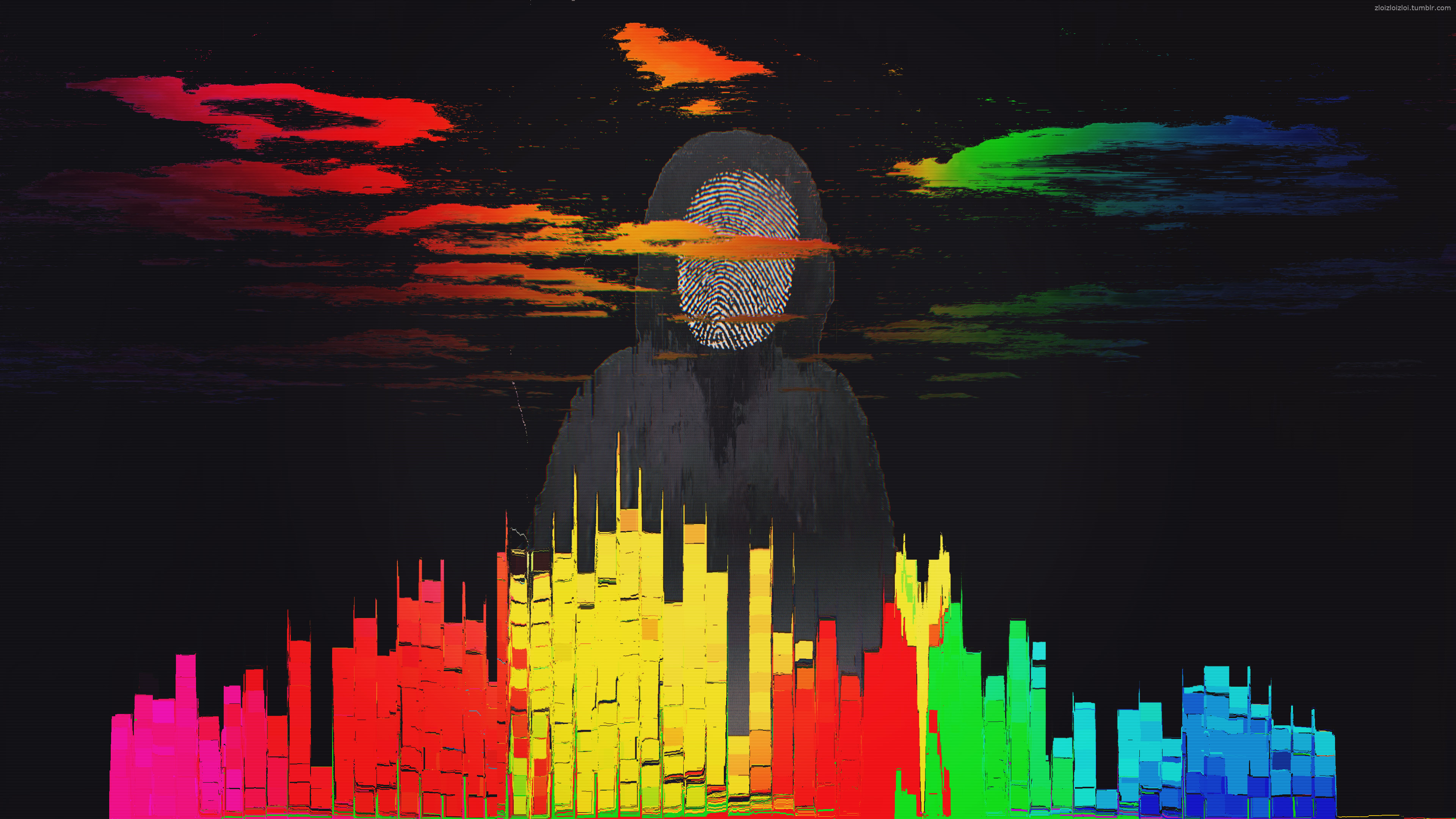 Glitch Art Abstract City Hd Abstract 4k Wallpapers Images