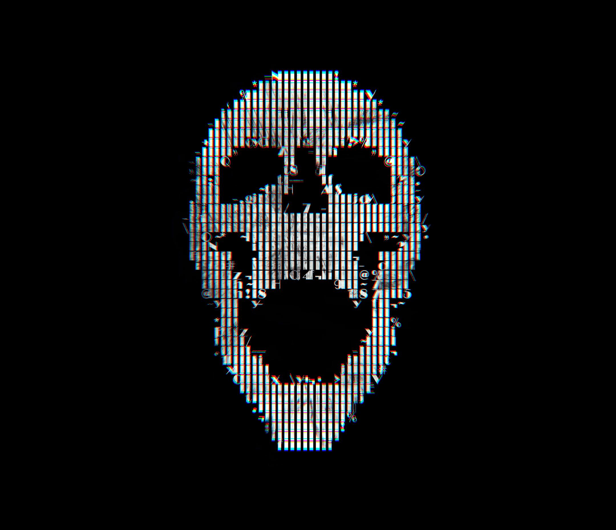 1152x864 Glitch Art Skull Abstract 1152x864 Resolution Hd 4k