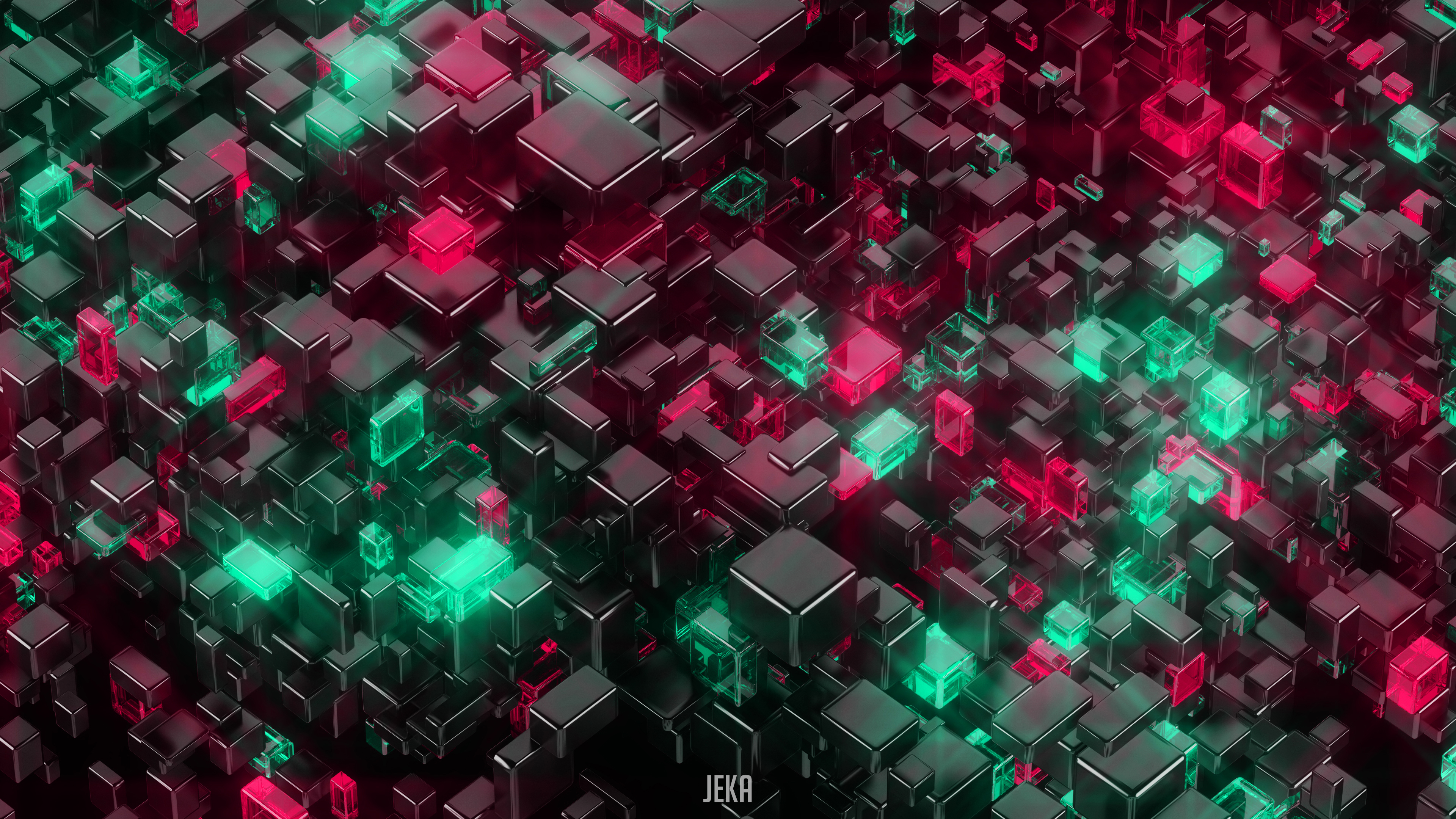 Glowing Cubes 4k Hd 3d 4k Wallpapers Images Backgrounds