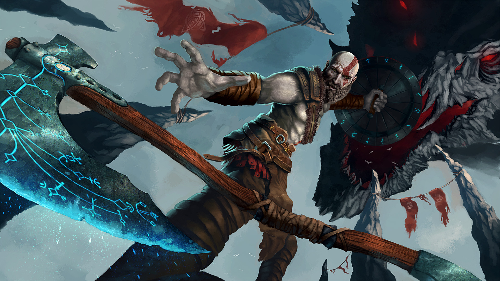 God Of War 4 Artwork Hd Games 4k Wallpapers Images