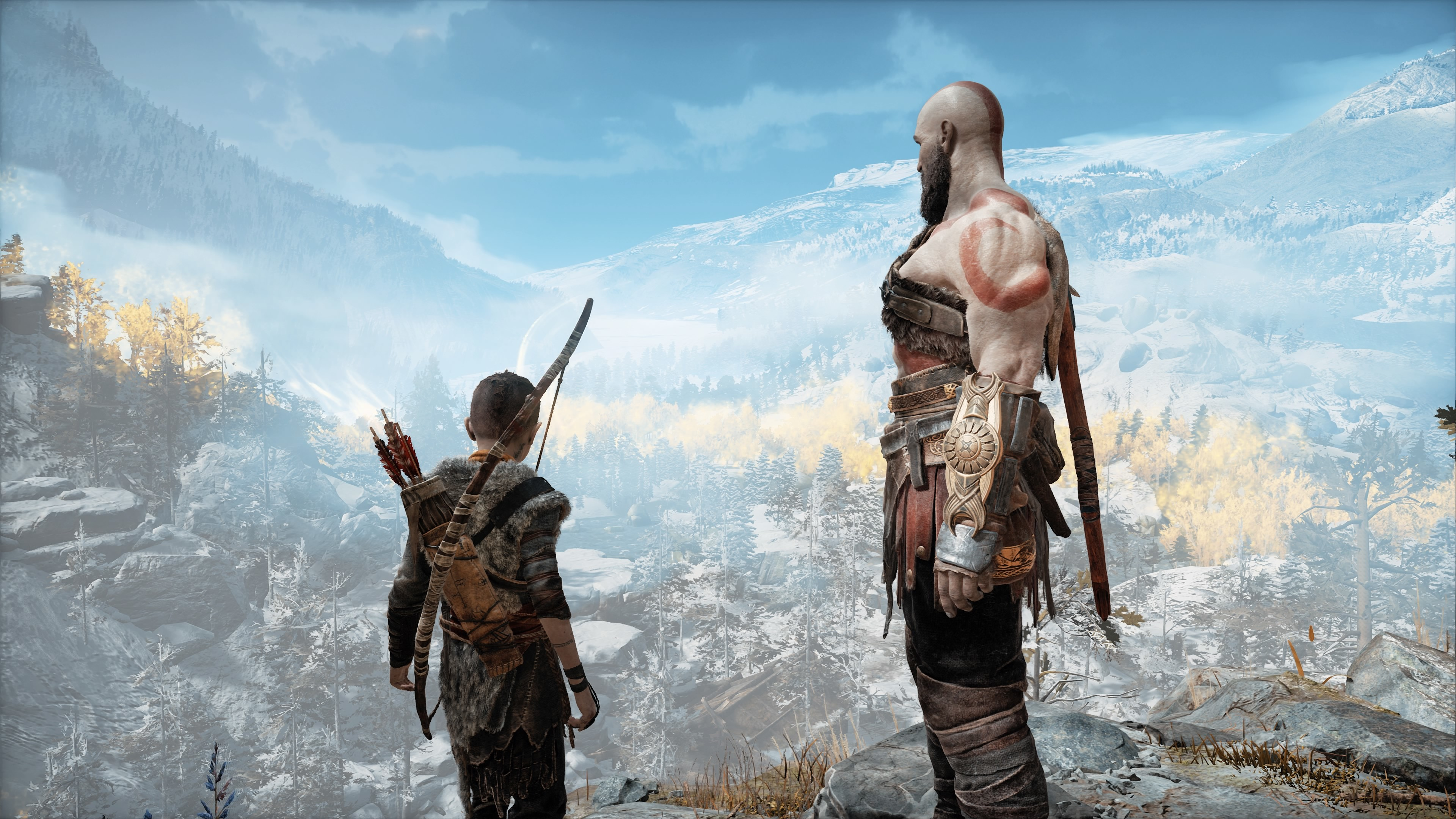 God Of War 4 Kratos And Atreus 4k Hd Games 4k Wallpapers