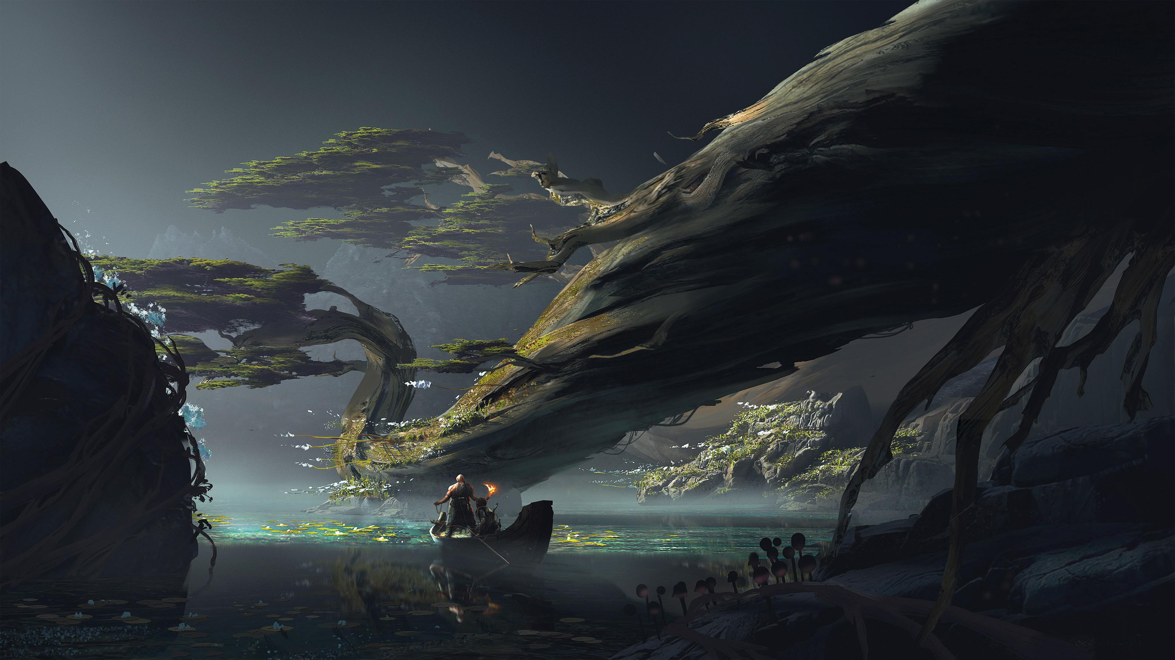 God Of War 4 Official Art 4k, HD Games, 4k Wallpapers ...