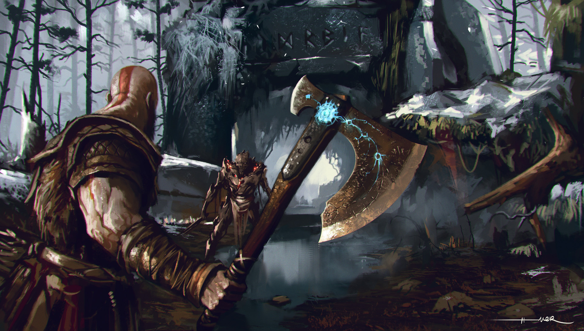 God of war art hd games 4k wallpapers images - 4k wallpaper of god ...