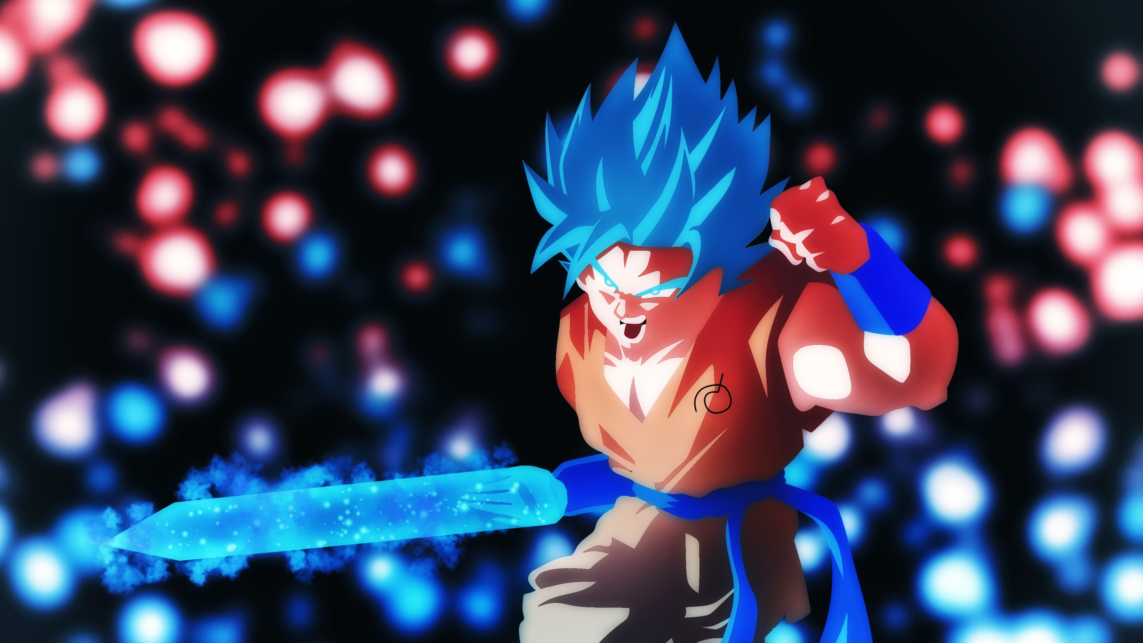 Goku SSB Ki Blade, HD Anime, 4k Wallpapers, Images, Backgrounds, Photos and Pictures