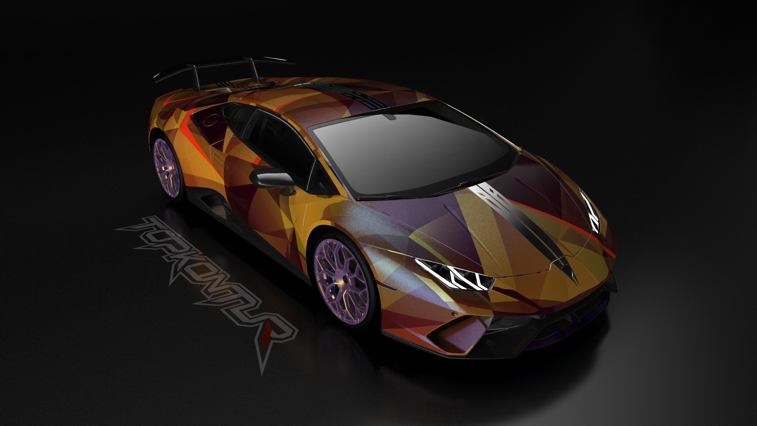 Gold And Wine Lamborghini Huracan Hd Cars 4k Wallpapers Images