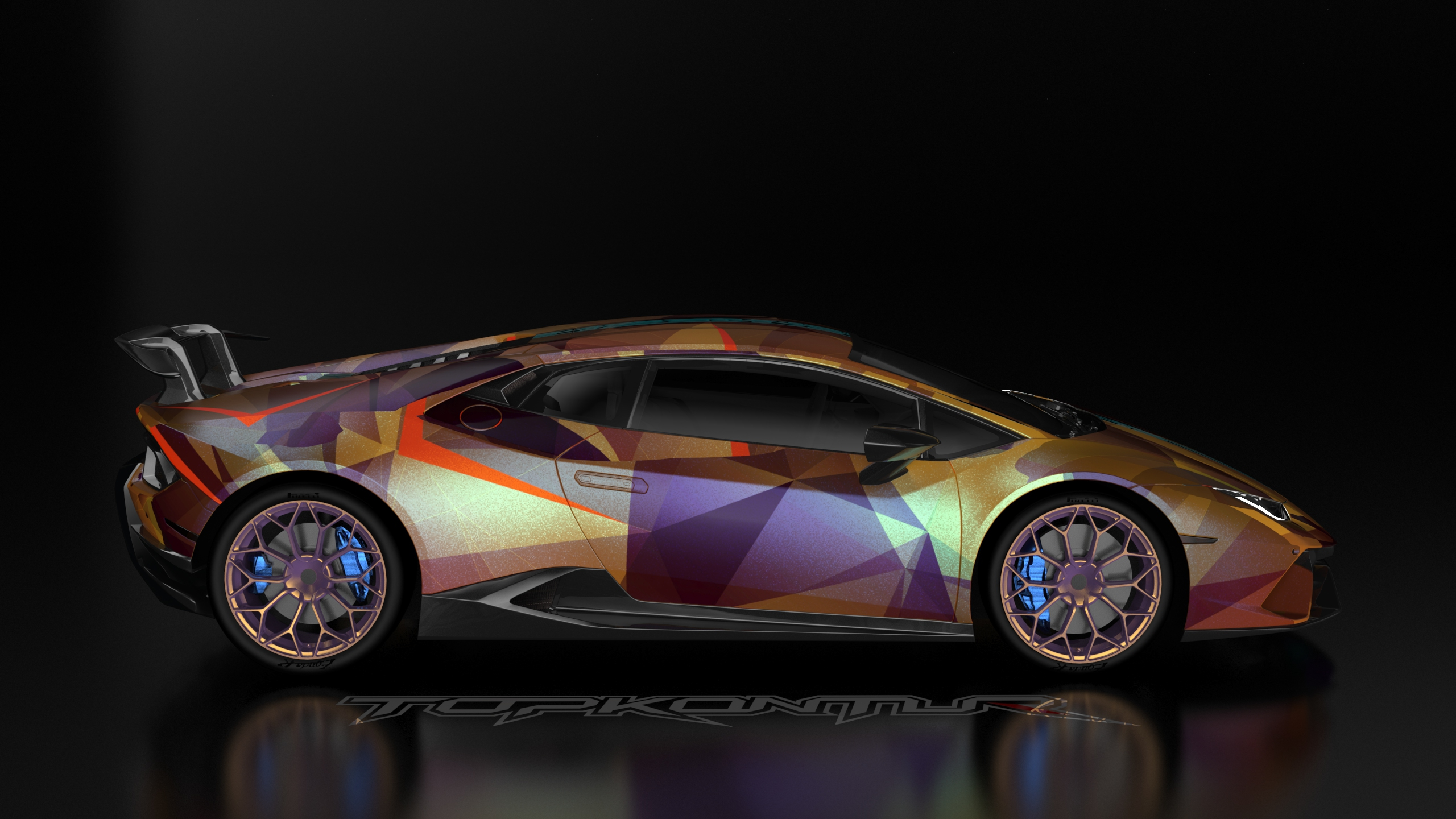 640x1136 Gold And Wine Lamborghini Huracan Car Iphone 5 5c