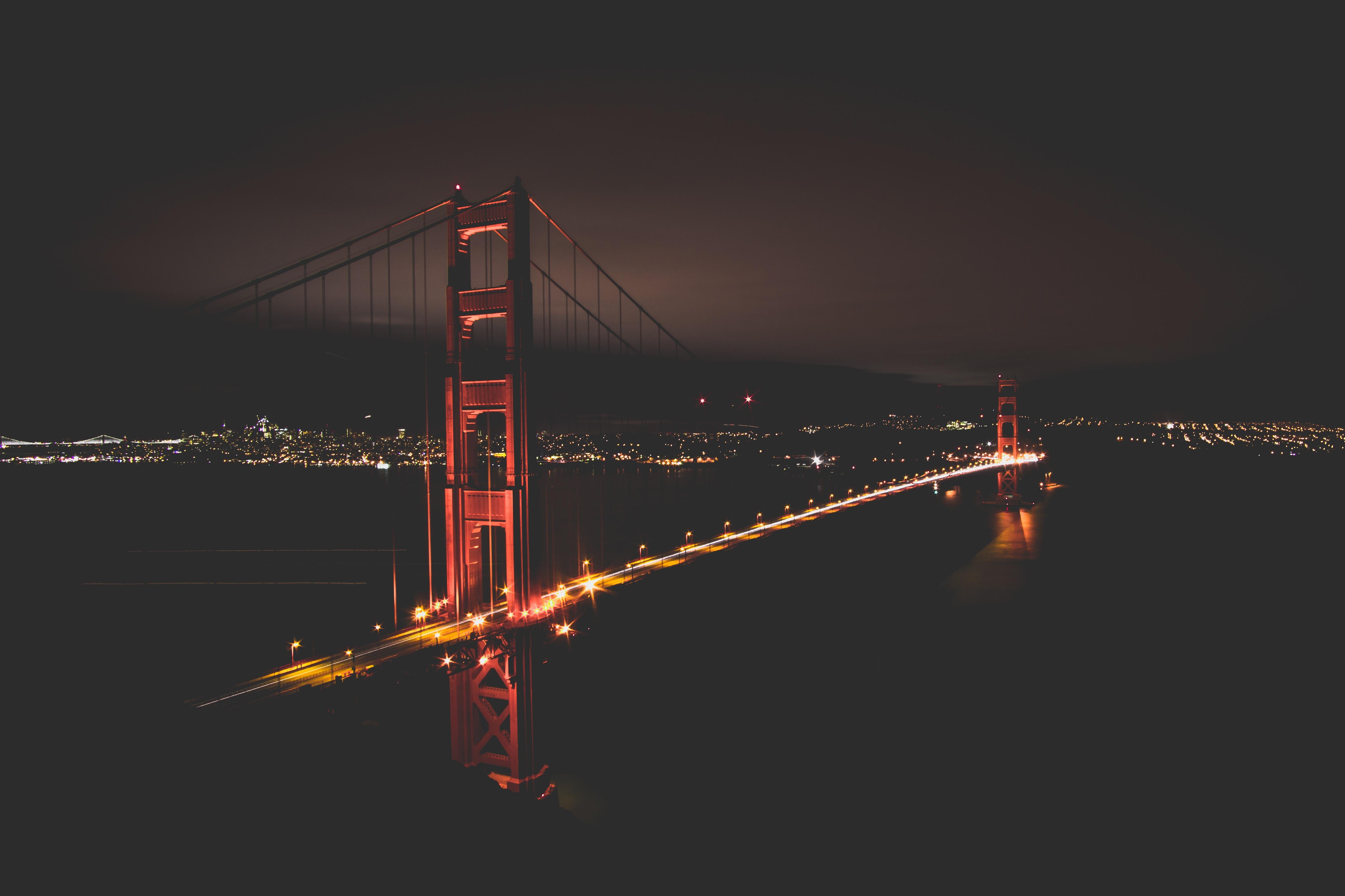 Golden Gate Bridge At Night Time, HD World, 4k Wallpapers ...