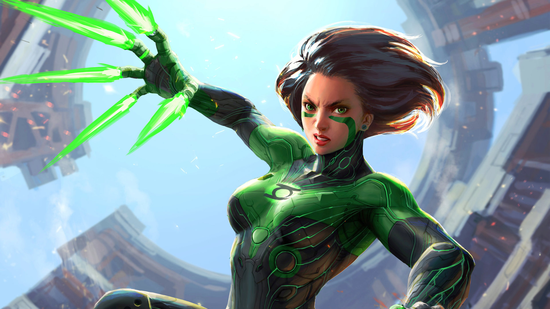 Green Alita Battle Angel, HD Movies, 4k Wallpapers, Images ...