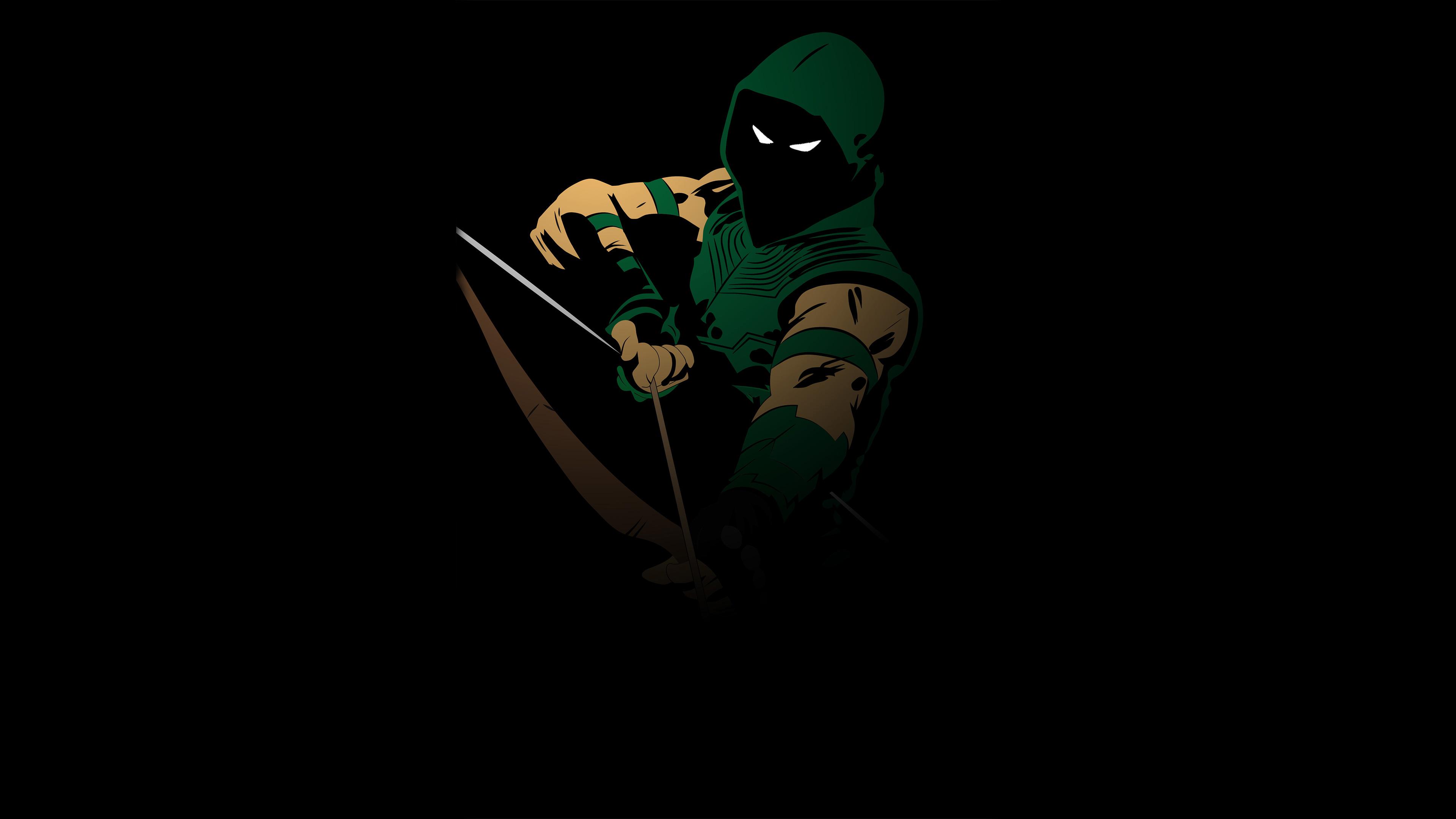 Green Arrow Minimal 4k Hd Superheroes 4k Wallpapers