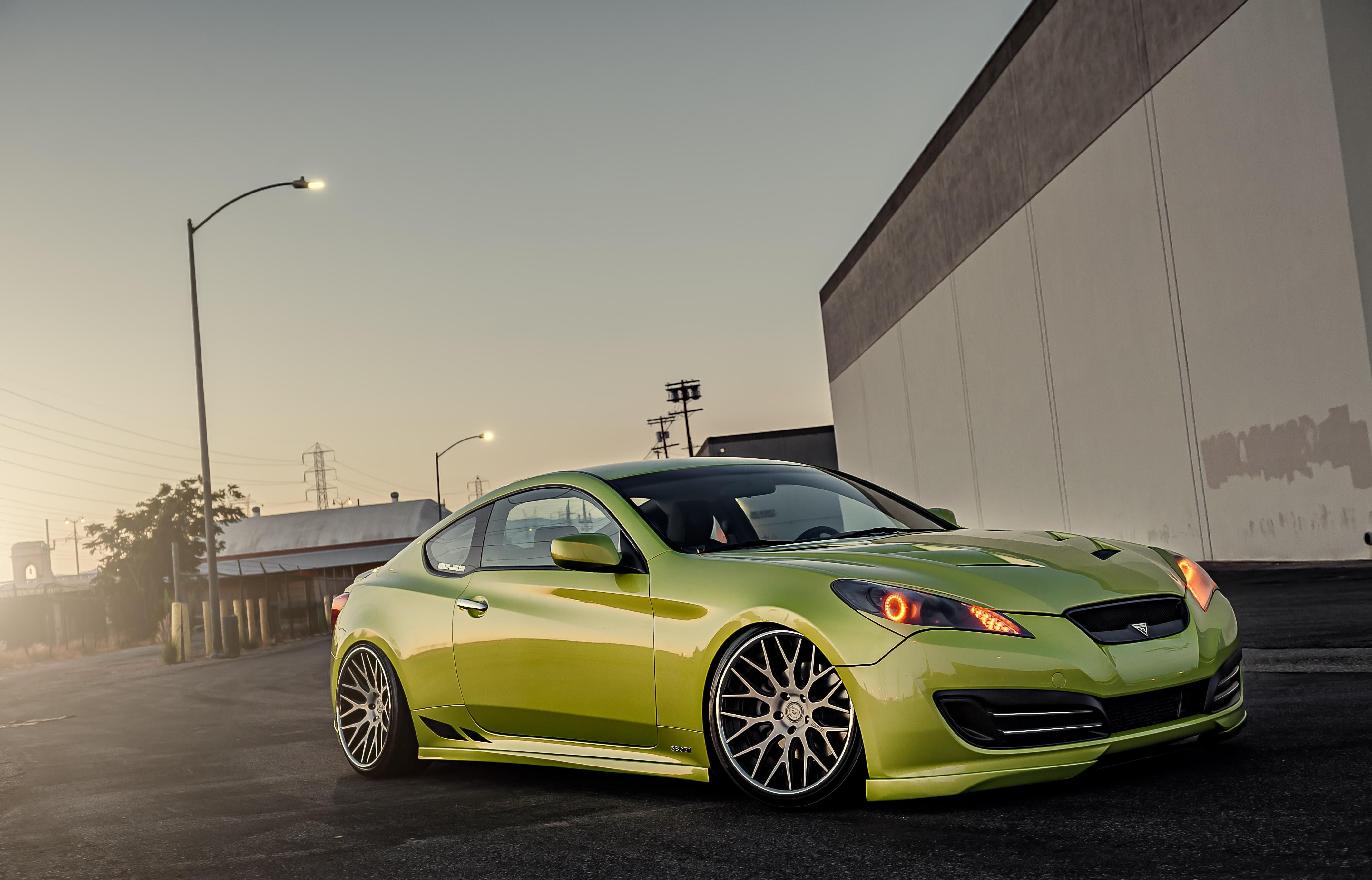 Green Hyundai Stance Genesis, HD Cars, 4k Wallpapers ...
