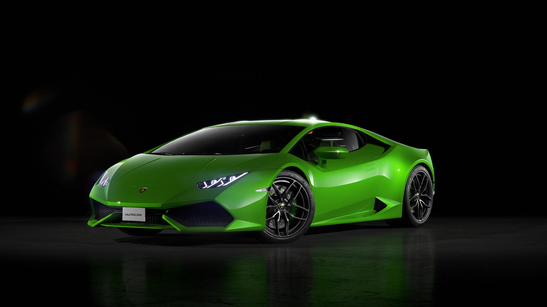 320x240 Green Lamborghini Huracan Front Apple Iphone Ipod