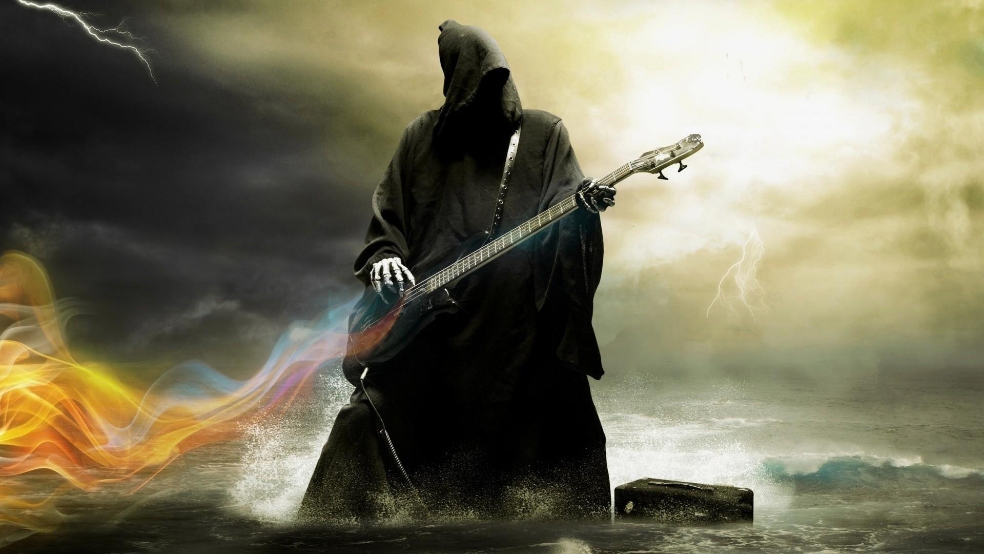 Grim Reaper Playing Guitar, HD Artist, 4k Wallpapers ...