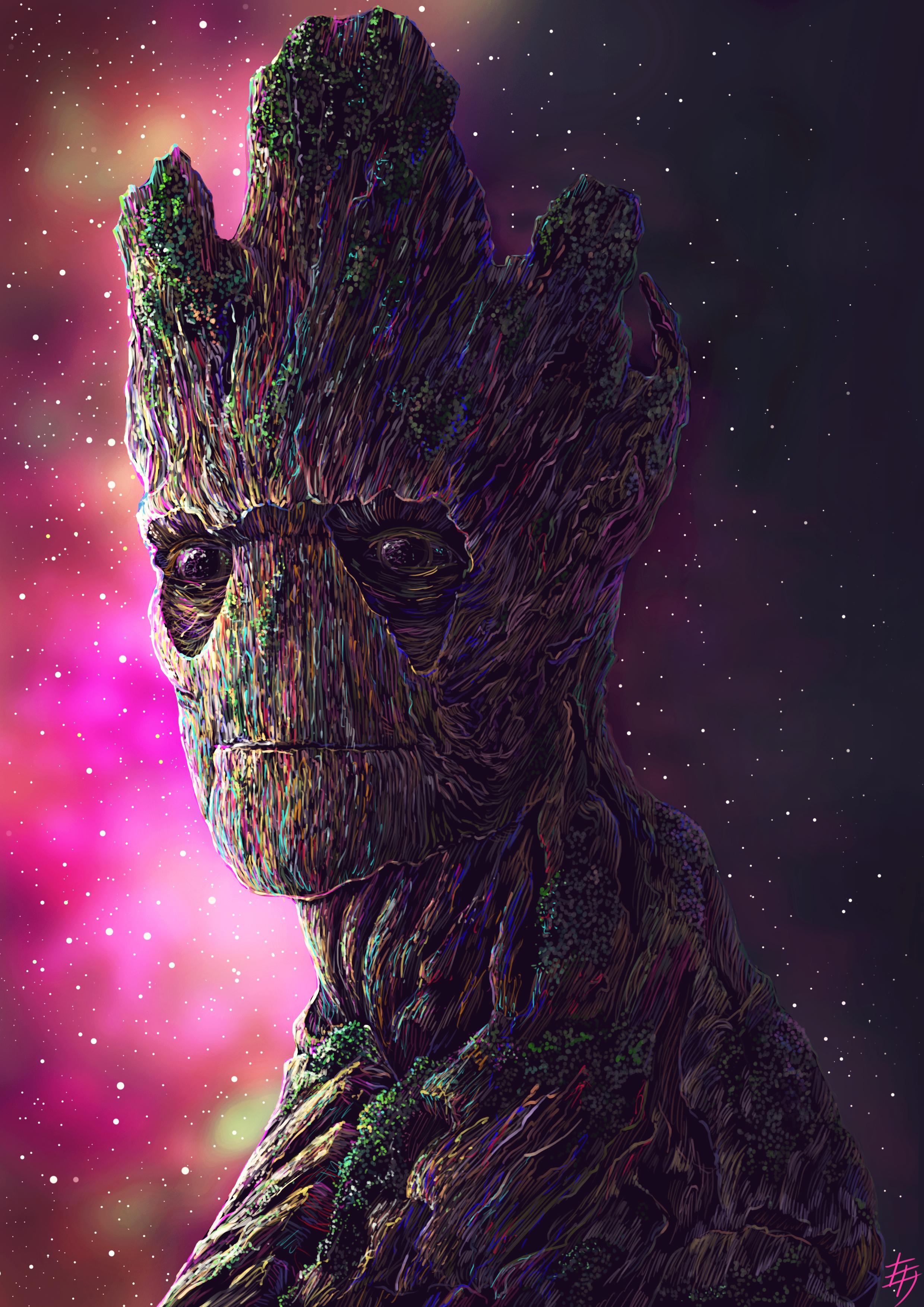 Groot Digital Art 4k, HD Superheroes, 4k Wallpapers ...