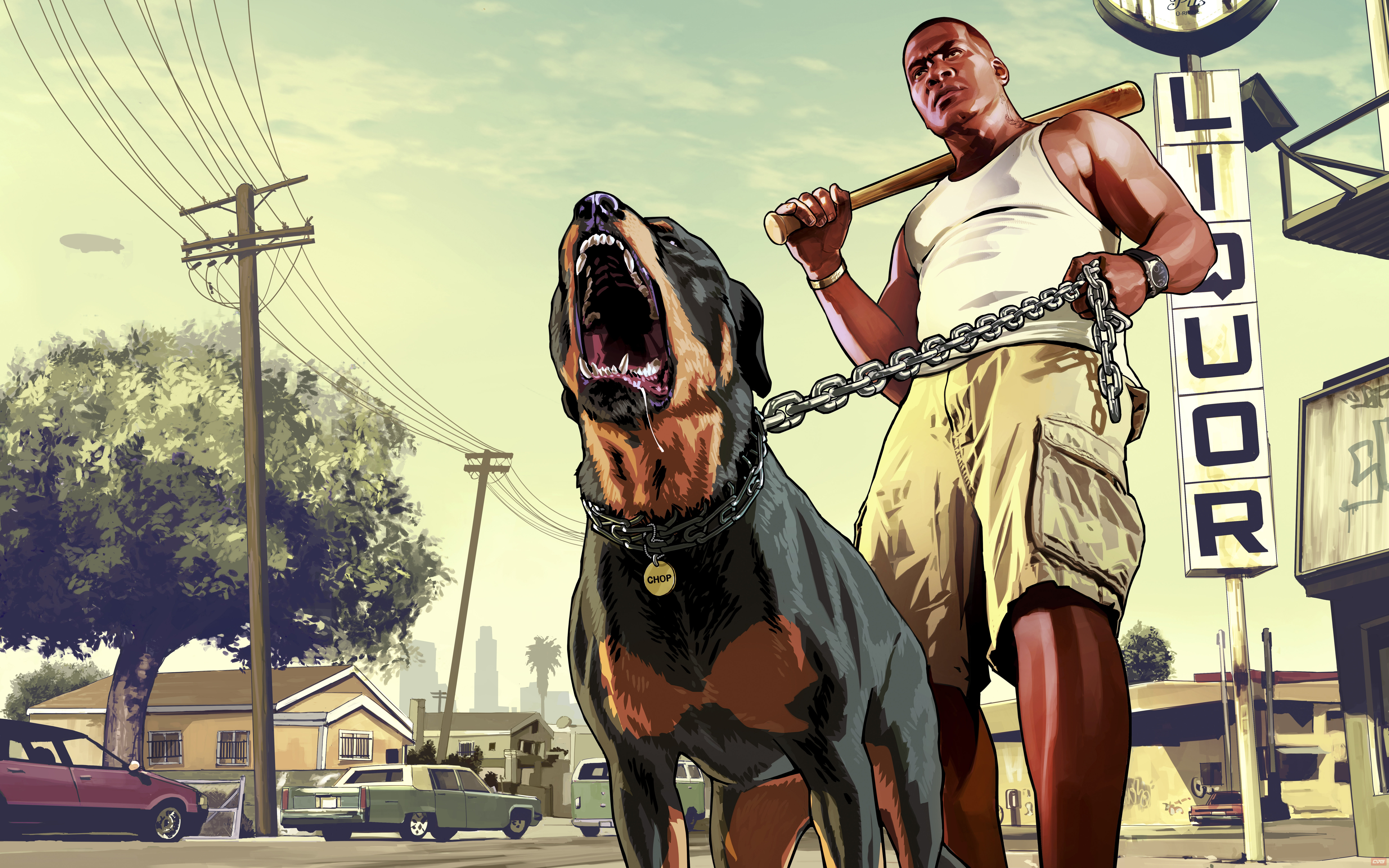 Gta 5 Franklin With Chop Rottweiler 8k Hd Games 4k Wallpapers