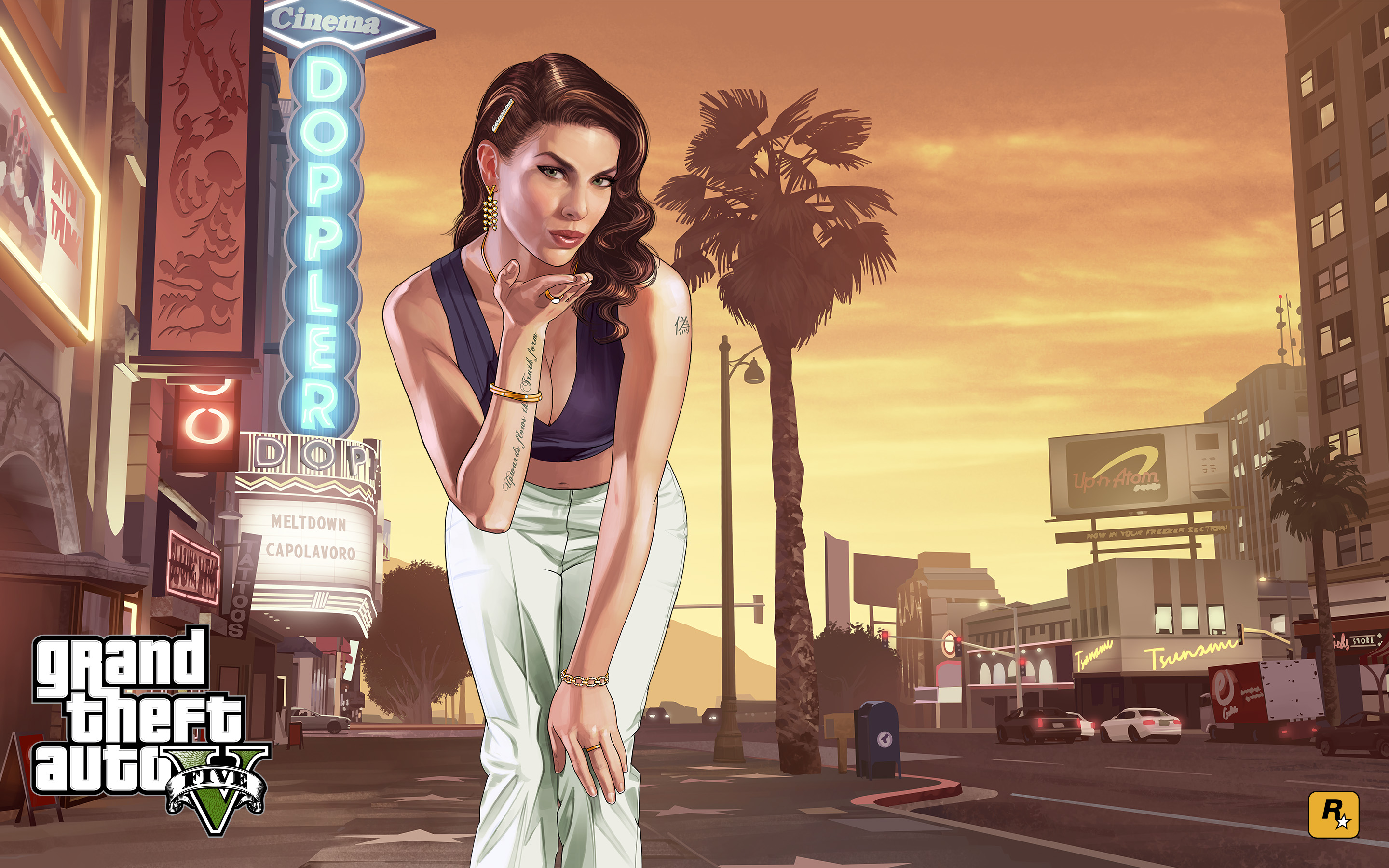 gta 5 loading girl, hd games, 4k wallpapers, images, backgrounds