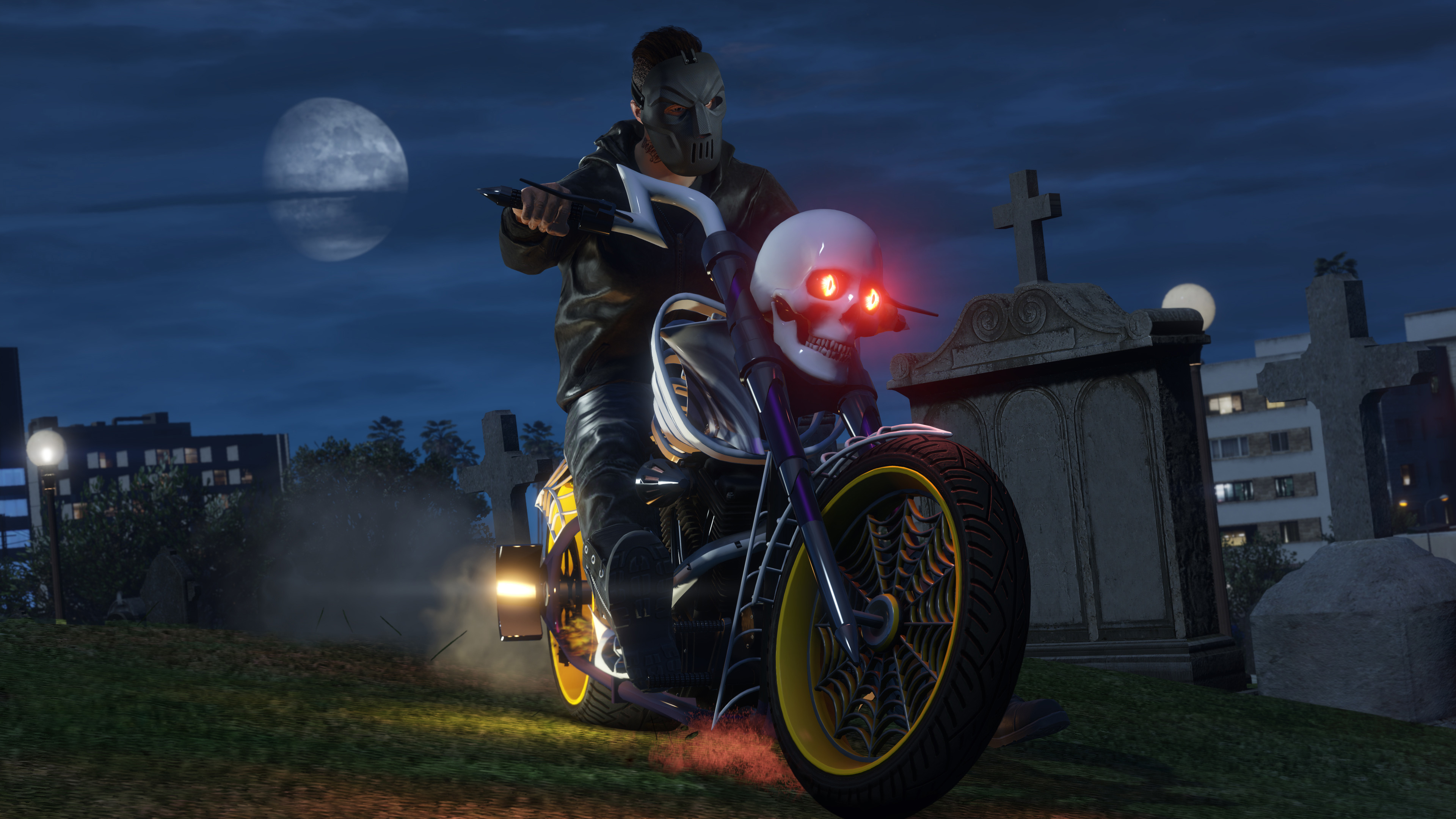 gta 5 online halloween dlc bike, hd games, 4k wallpapers, images