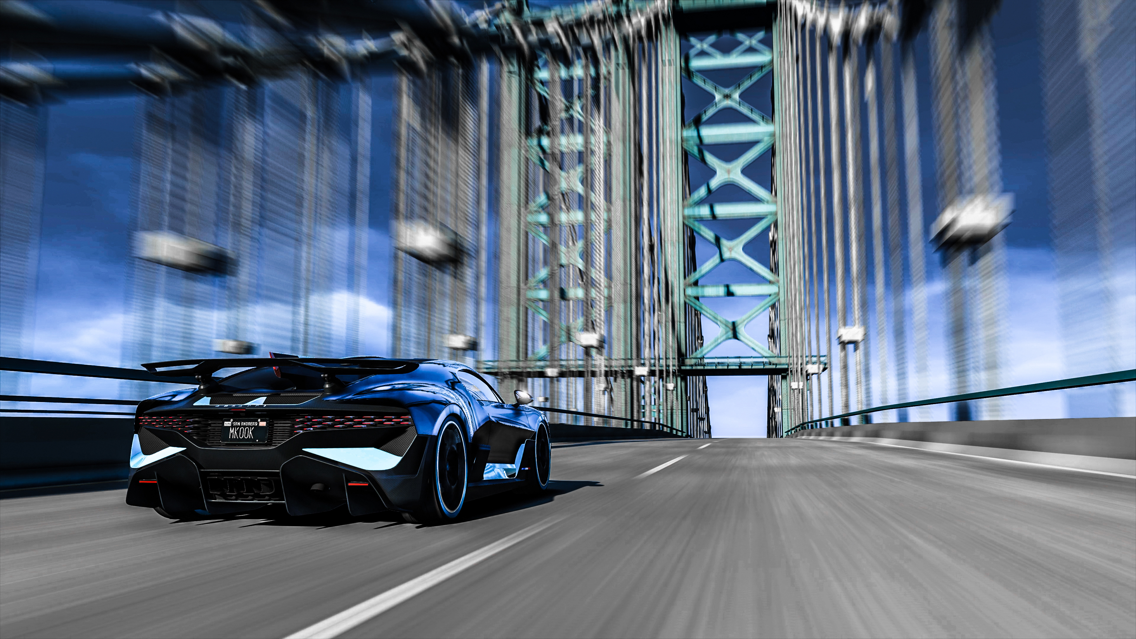 Gta V Bugatti Divo On Highway Hd Games 4k Wallpapers