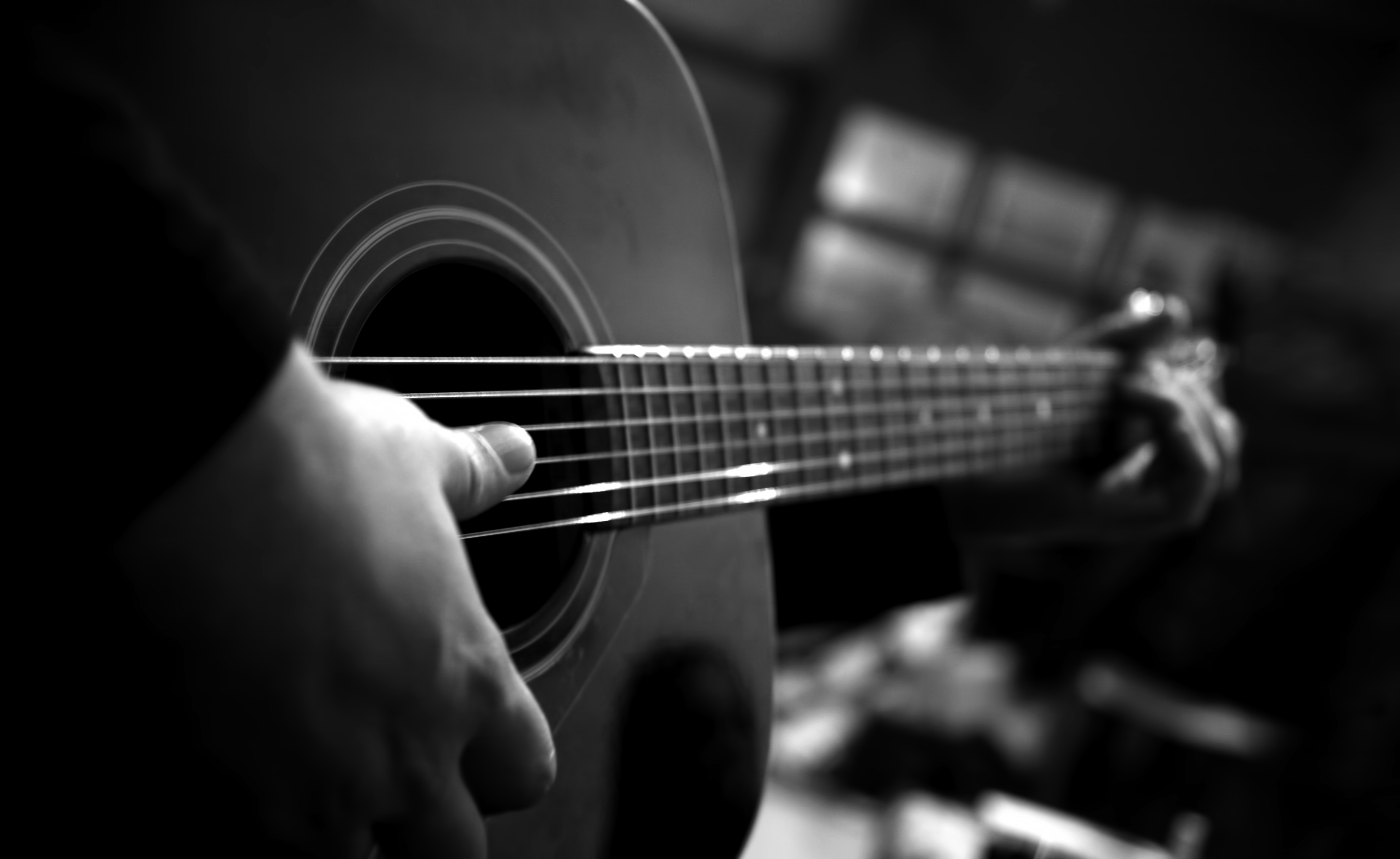 Cool Wallpaper Music Black And White - guitar  You Should Have_489688.jpg
