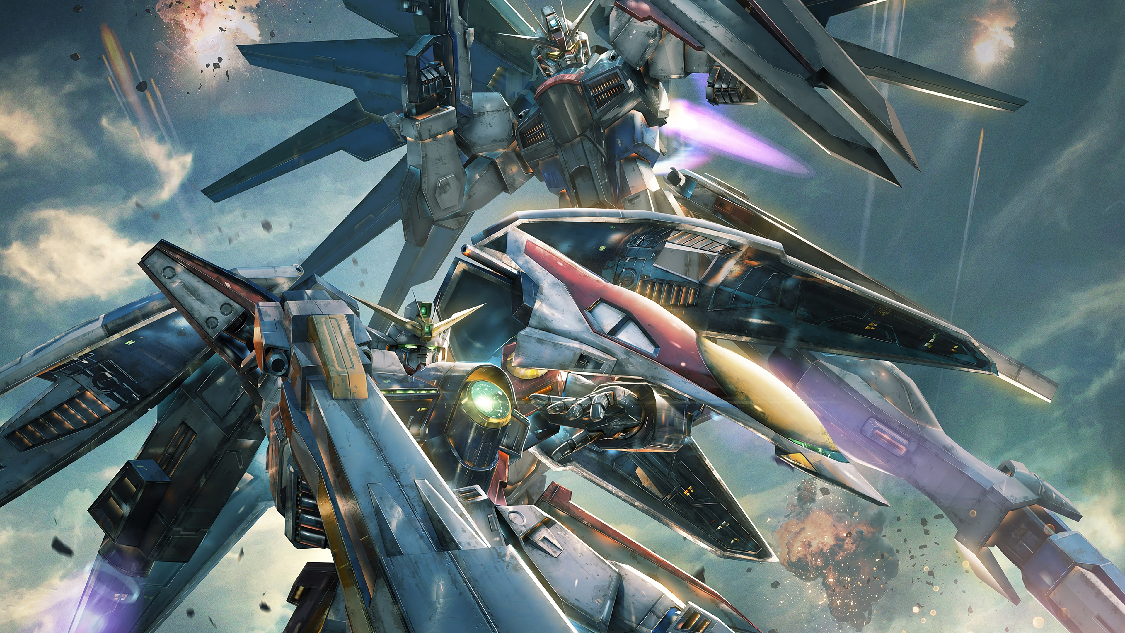 Custom Wallpaper 4k Pubattlegrounds: Gundam Versus 2017 4k, HD Games, 4k Wallpapers, Images
