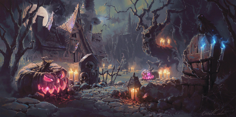 2560x1440 Halloween Artwork 1440P Resolution HD 4k ...